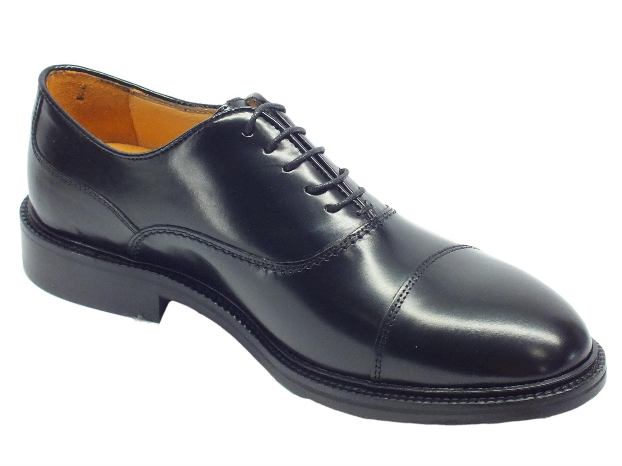 ca7e951f945 Scarpe Eleganti Mercanti Fiorentini pelle abrasivata nera - Vitiello ...
