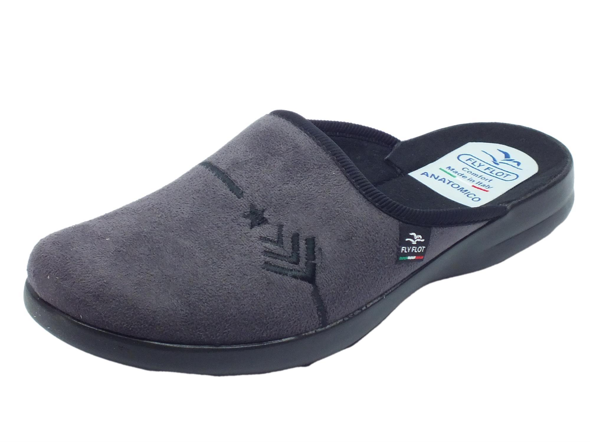 piuttosto fico design raffinato vendita più calda Pantofole Fly Flot per uomo in tessuto antracite sottopiede anatomico