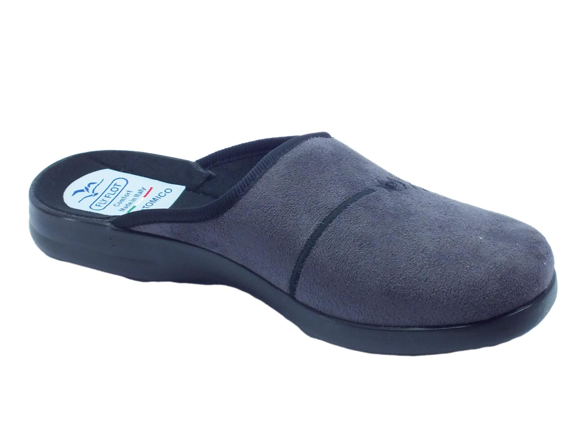 ... Pantofole Fly Flot per uomo in tessuto antracite sottopiede anatomico  ... b3a277fc2af