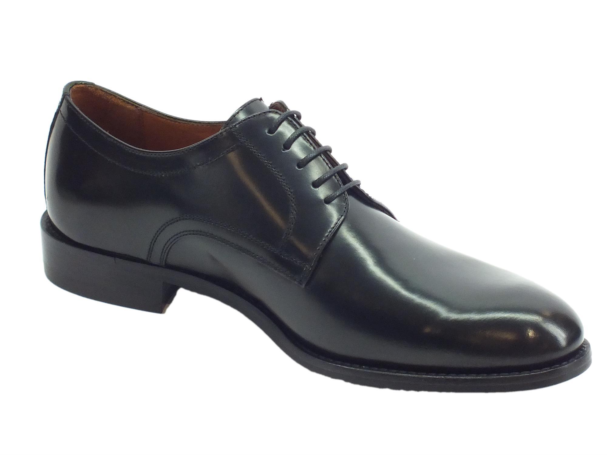 ... Scarpe eleganti per uomo Mercanti Fiorentini in pelle abrasivata nera  ... 8bc814f40e1