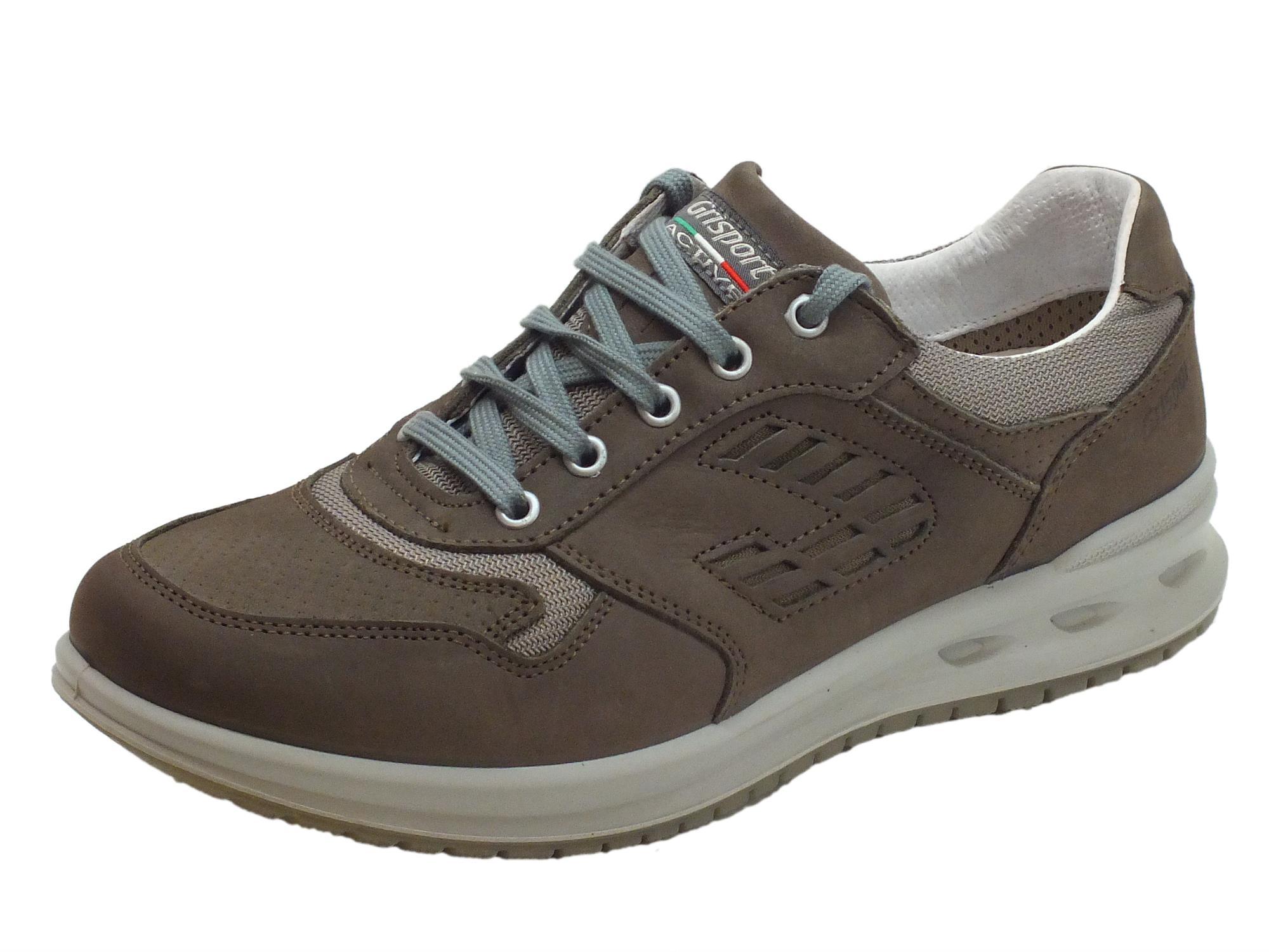 Scarpe per uomo Grisport Active in pelle marrone con fondo antistatico 61412866ce0