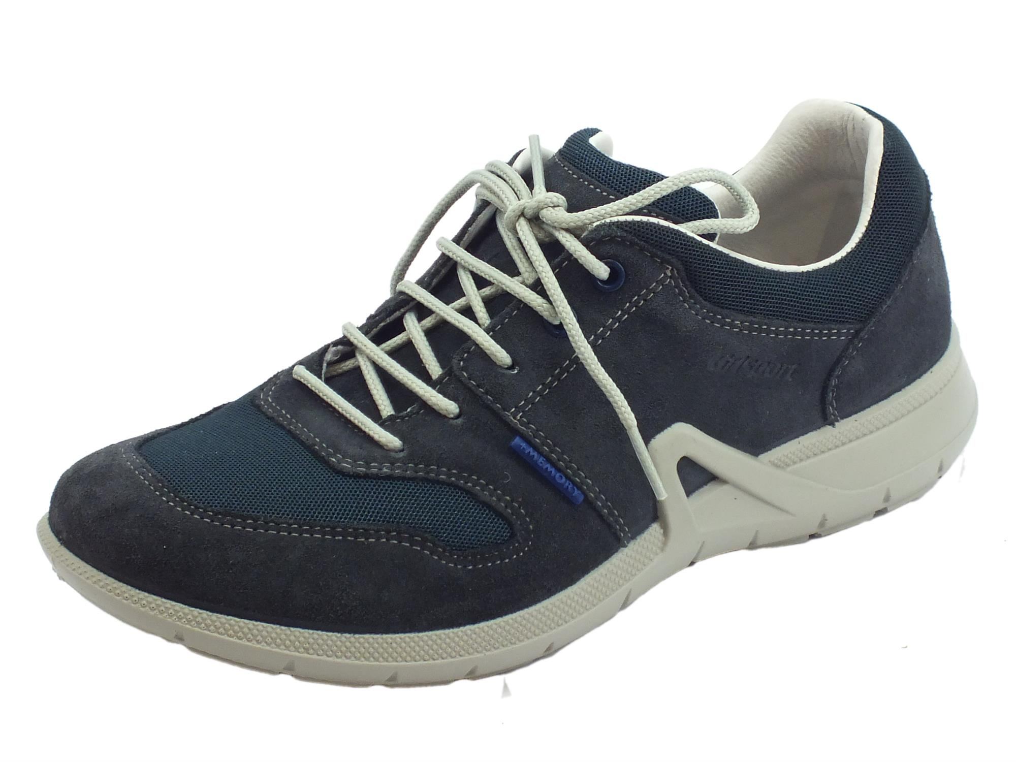 Scarpe Grisport uomo nabuk tessuto blu sottopiede memory - Vitiello ... 423cb995453