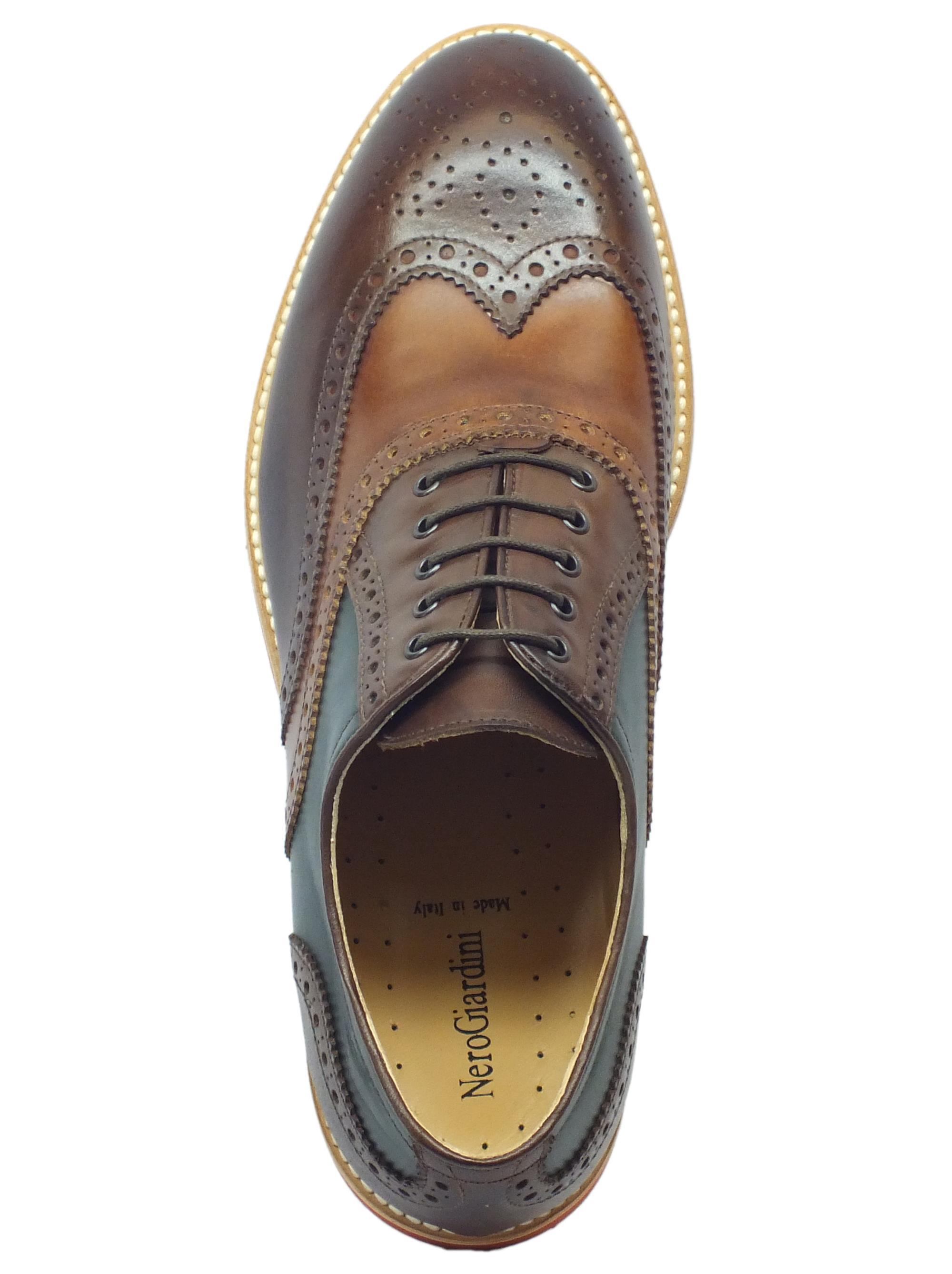 ... Scarpe Eleganti NeroGiardini per uomo in pelle colori castagno legno  bottiglia d5e35c3ca2d
