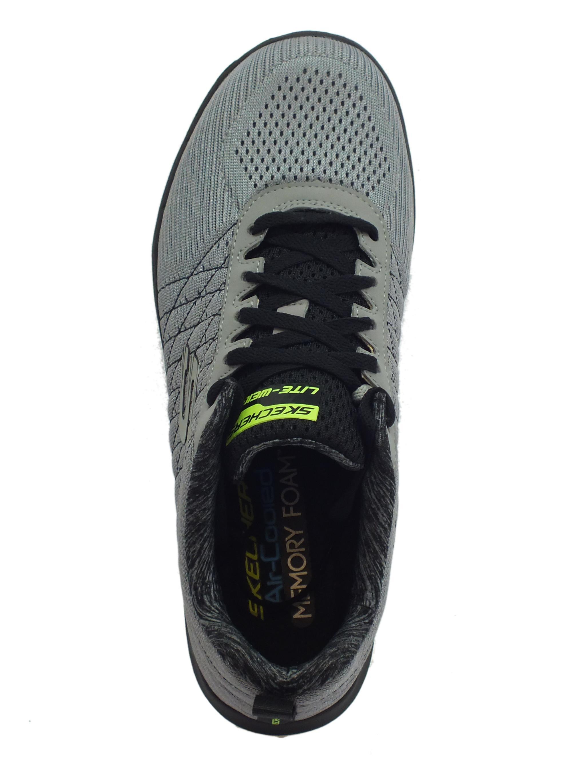 Scarpe Skechers Air cooled uomo tessuto grigio - Vitiello Calzature 18031c2455e