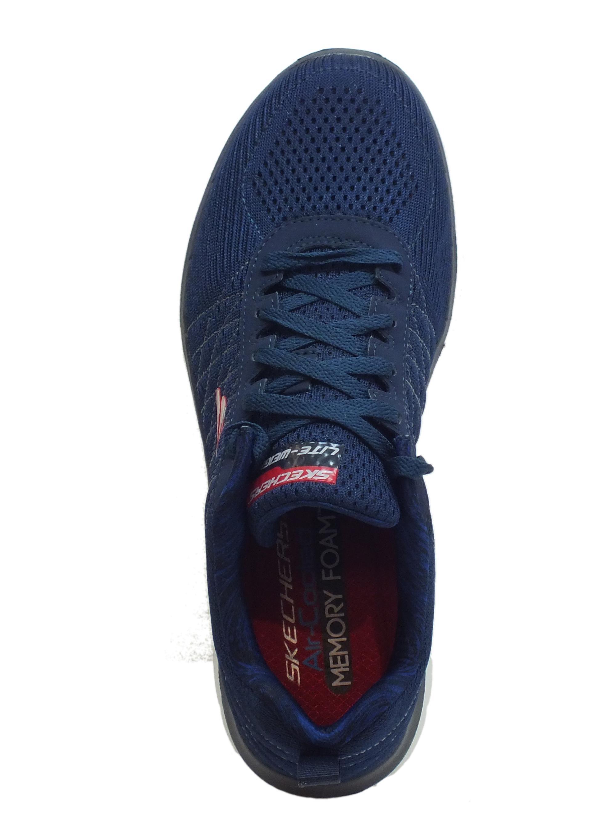 Scarpe Skechers THE HAPPS uomo tessuto blu memory foam - Vitiello ... 00483e99156