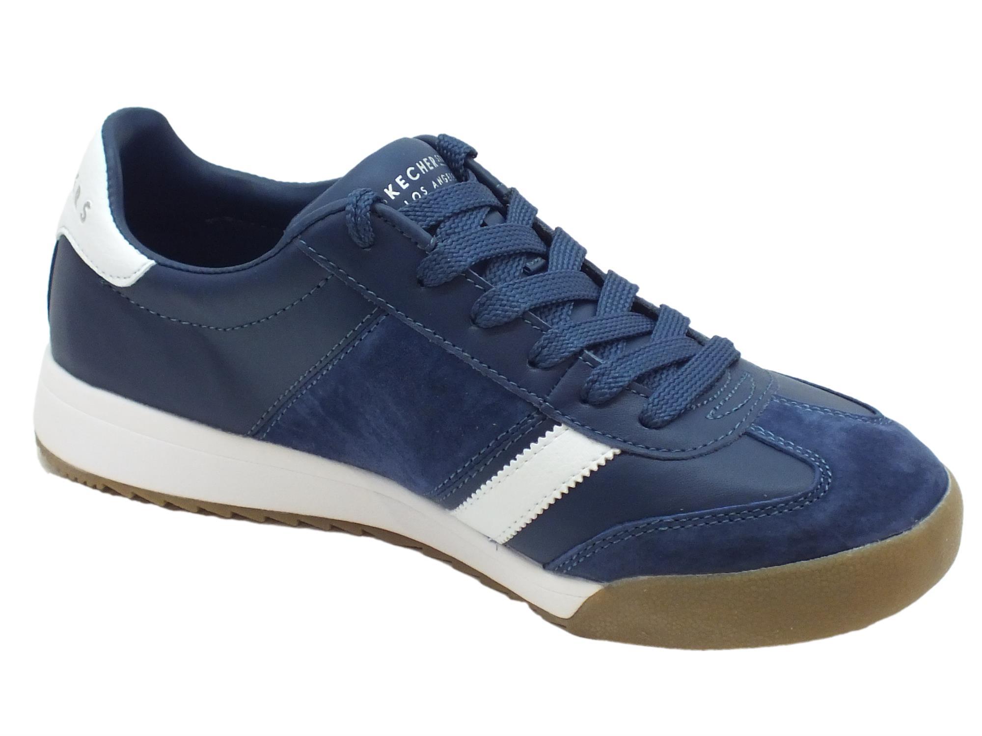Scarpe sportive Skechers Los Angeles uomo camoscio blu - Vitiello ... e265bd7aaf5