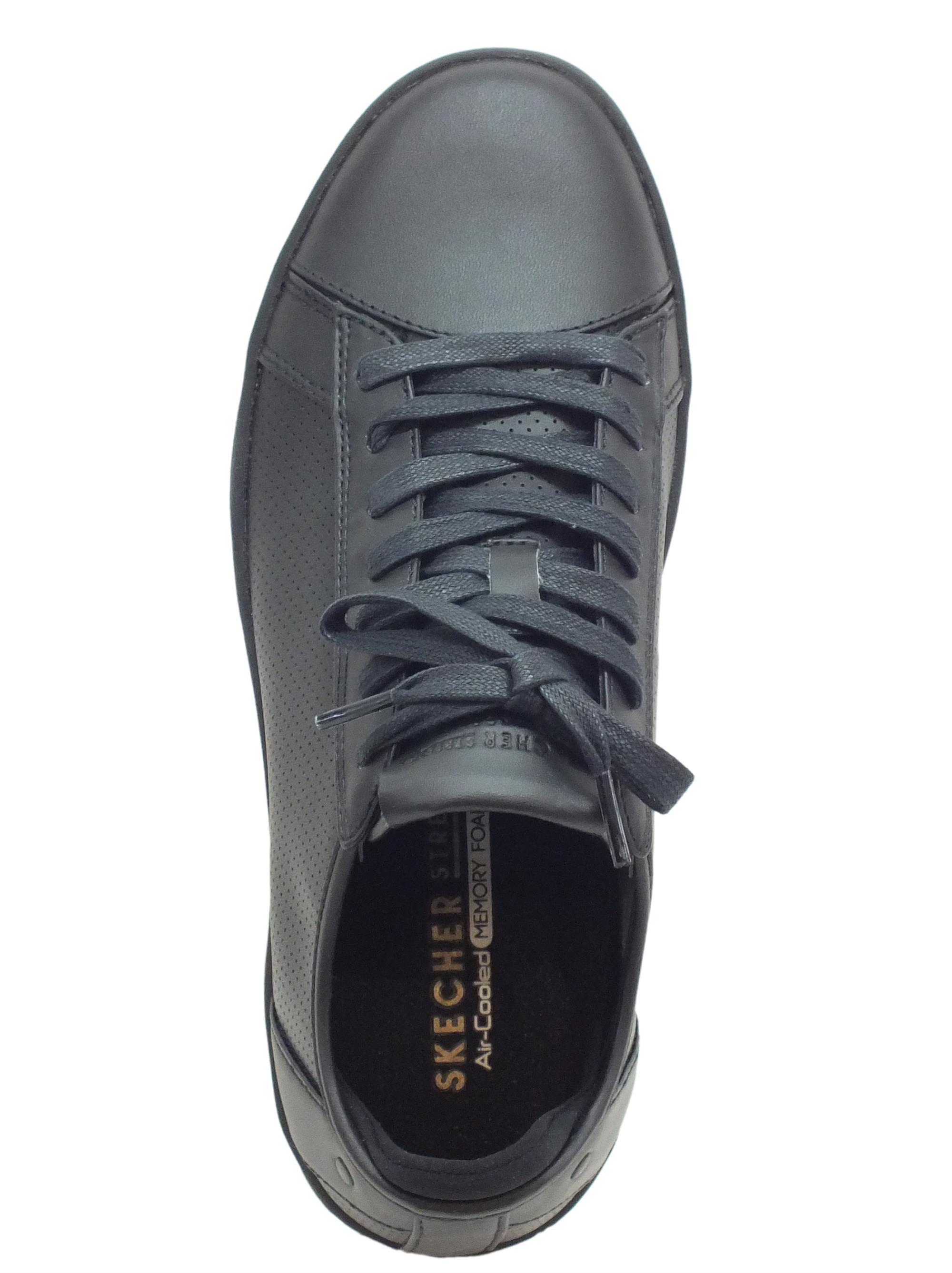 ... Scarpe Skechers Los Angeles per uomo modello tennis in pelle nera d38e61dc24b