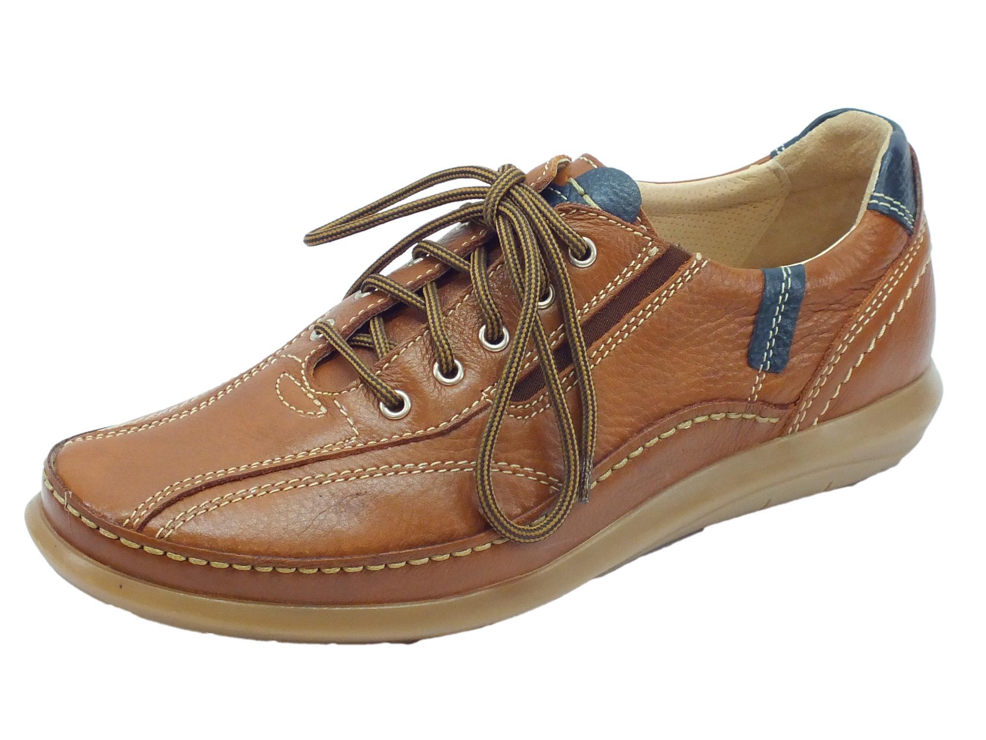 Scarpe Zen uomo pelle noce lacci ed elastici - Vitiello Calzature ad02099122a