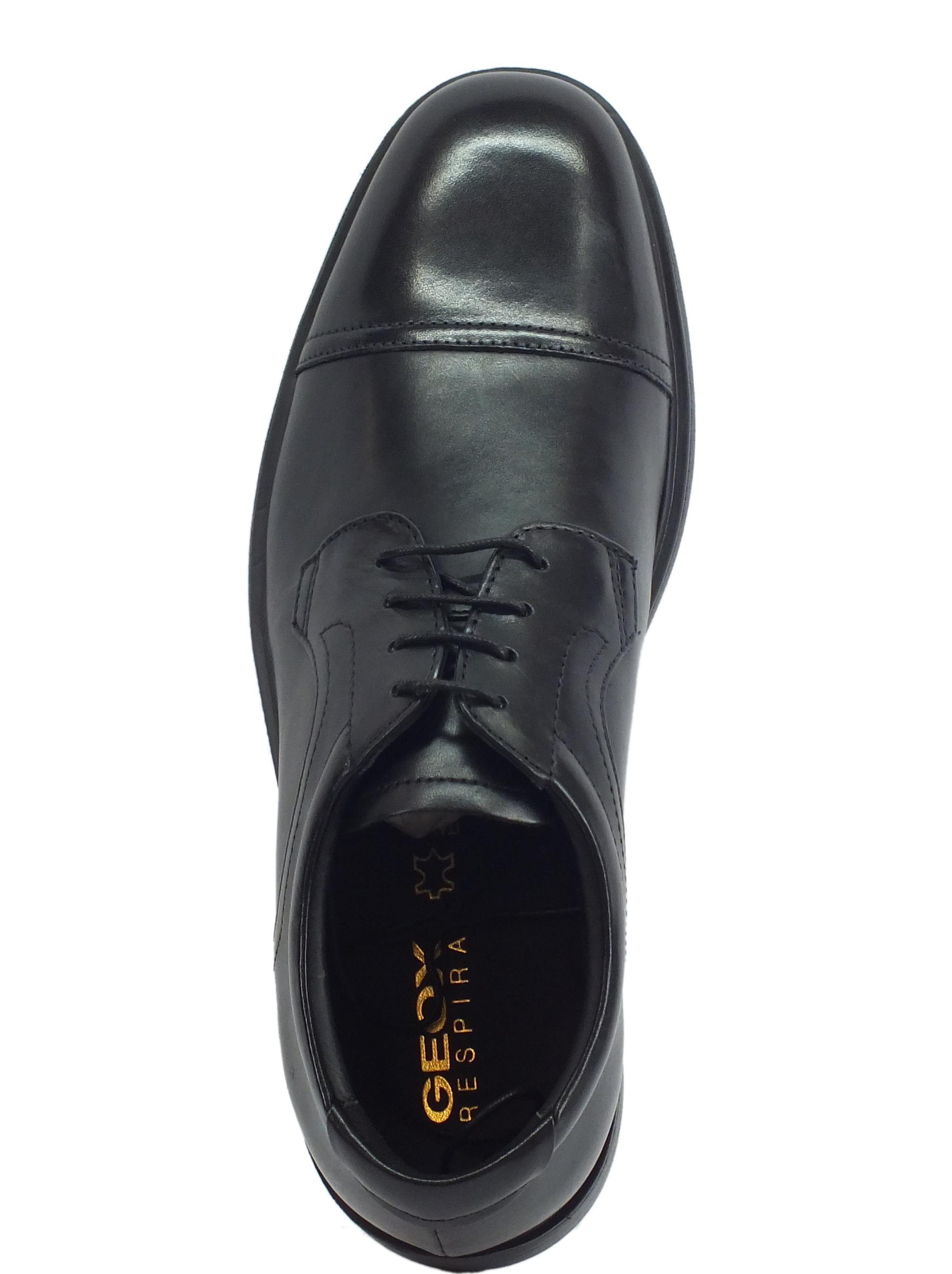 Scarpe Geox Dublin uomo pelle nera - Vitiello Calzature b760544f0ef