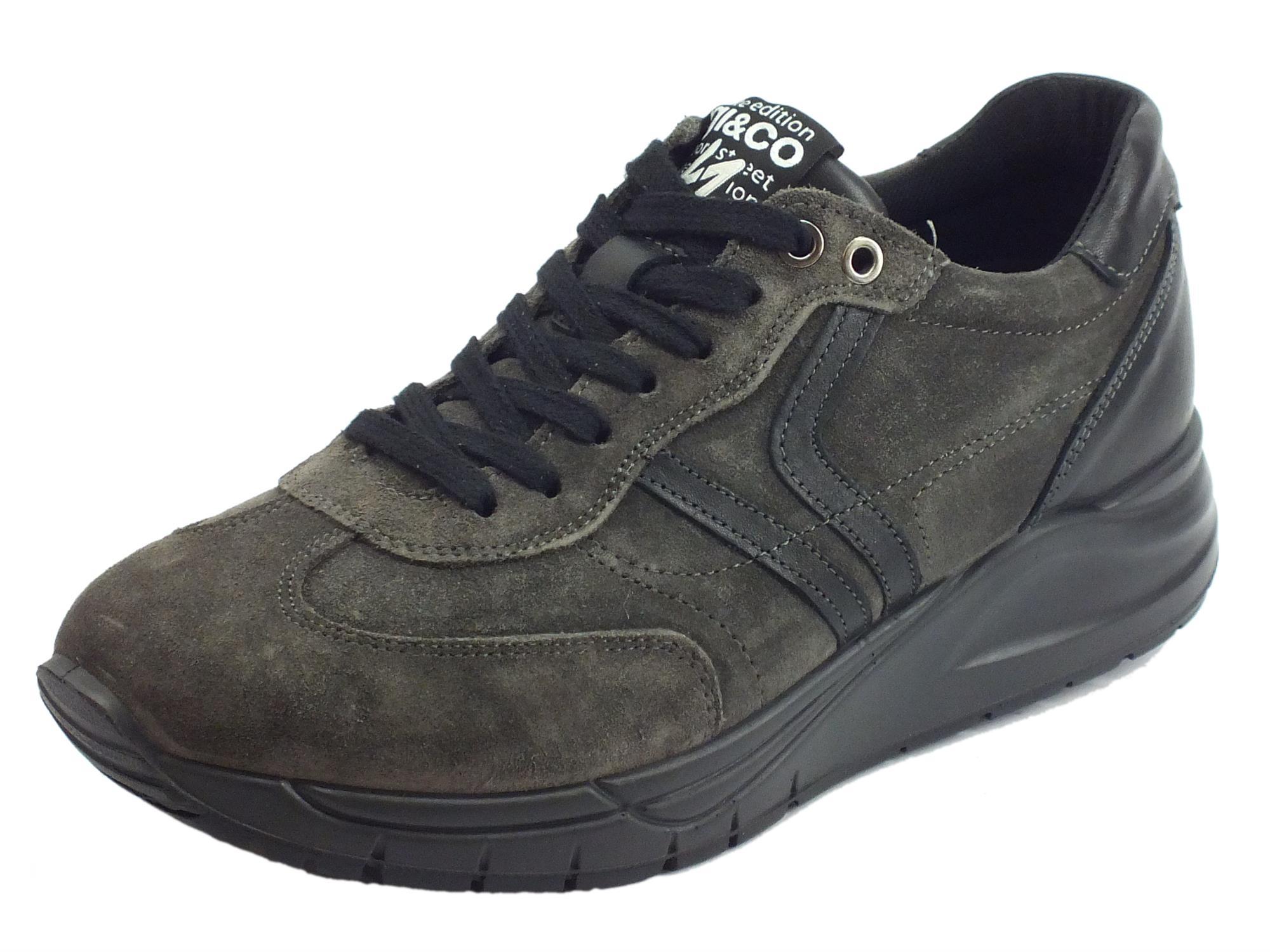 Scarpe per uomo Igi&Co in scamosciato grigio sottopiede estraibile