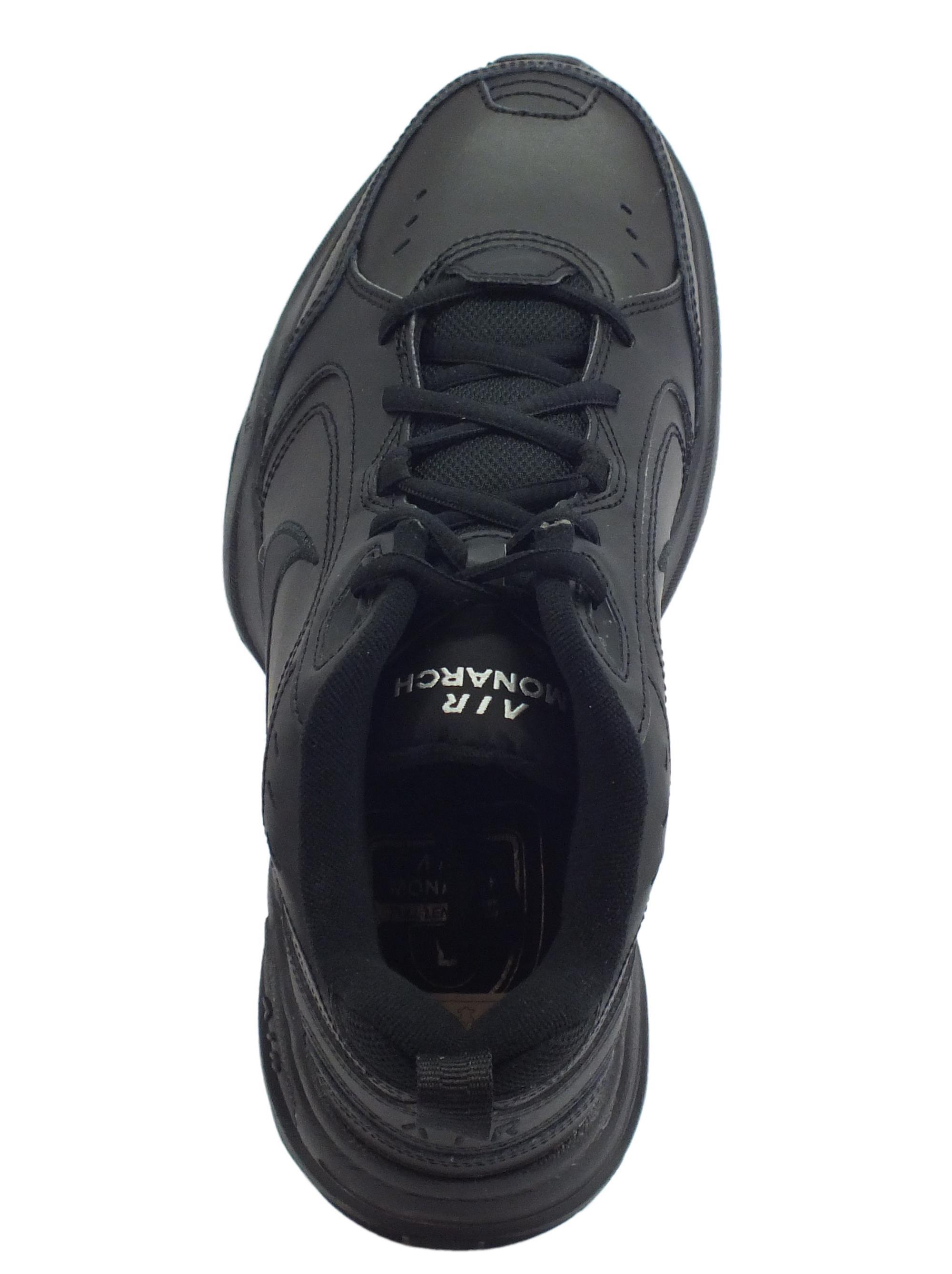 bb889b2c5ba7 Scarpe sportive Nike Air Monarch IV uomo pelle nera - Vitiello Calzature