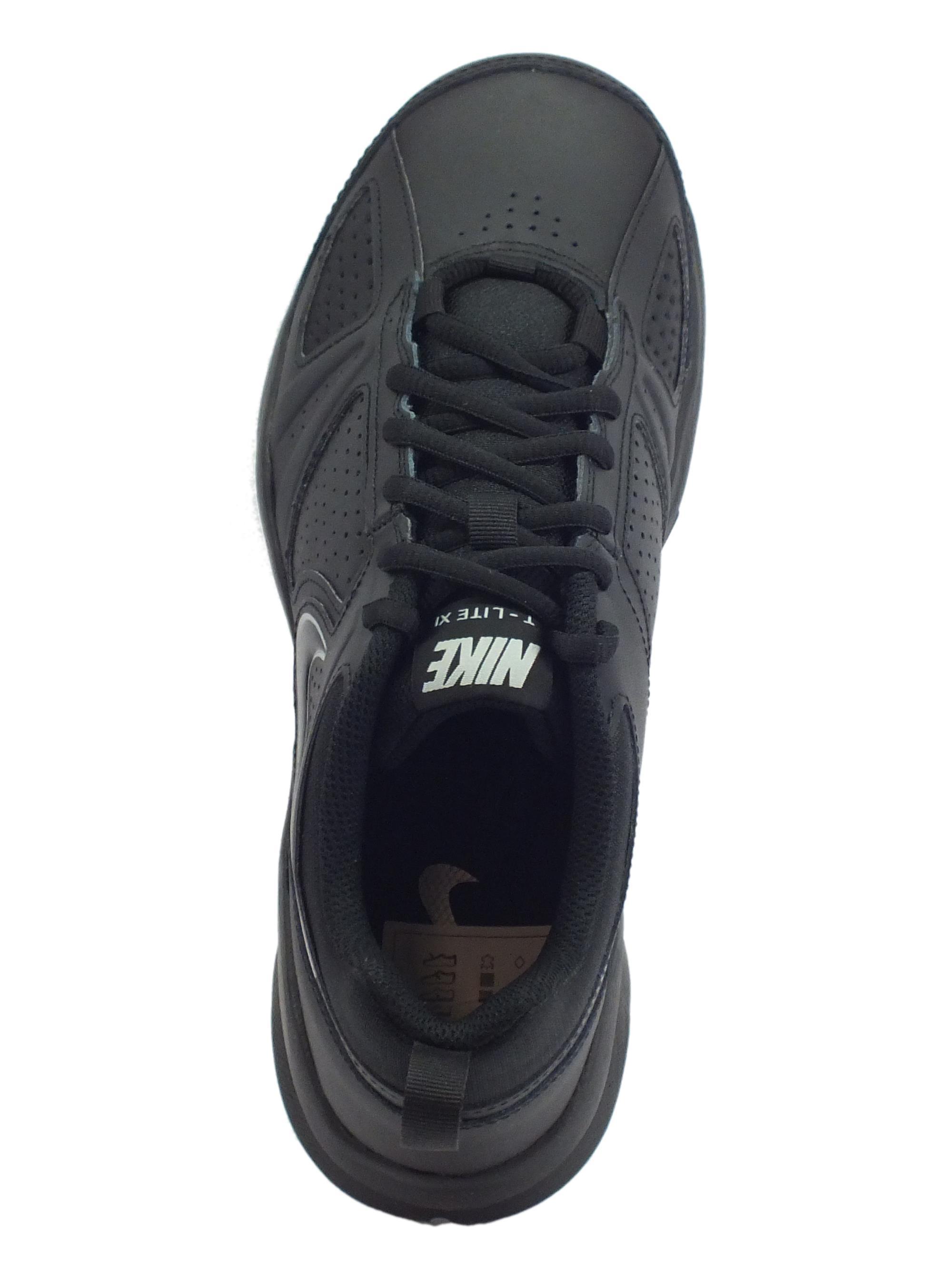 cc47ac5bad26 Scarpe sportive Nike T-Lite XI uomo pelle nera - Vitiello Calzature