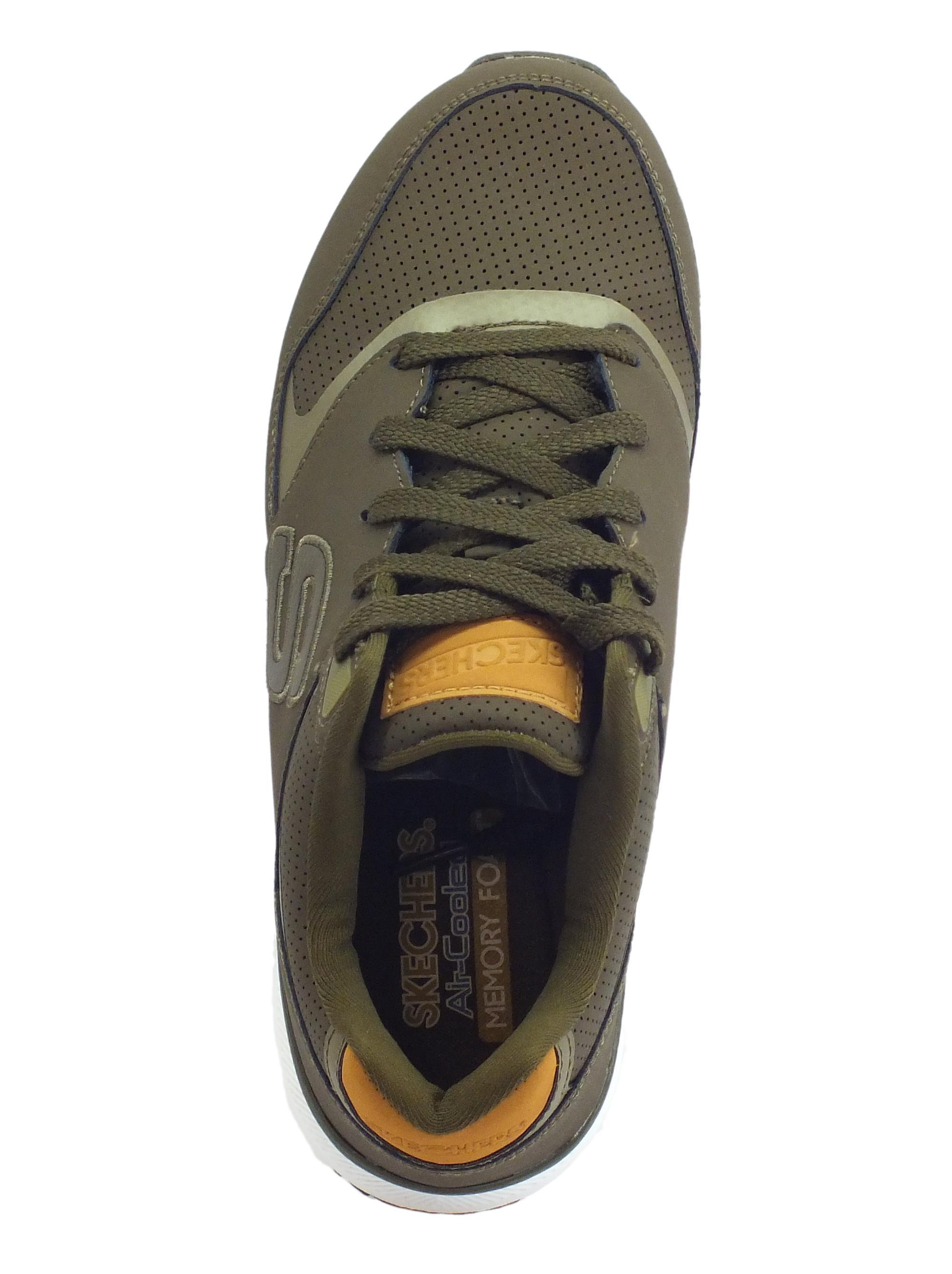Ultime offerte SKECHERS Sneaker in pelle oliva Originals con