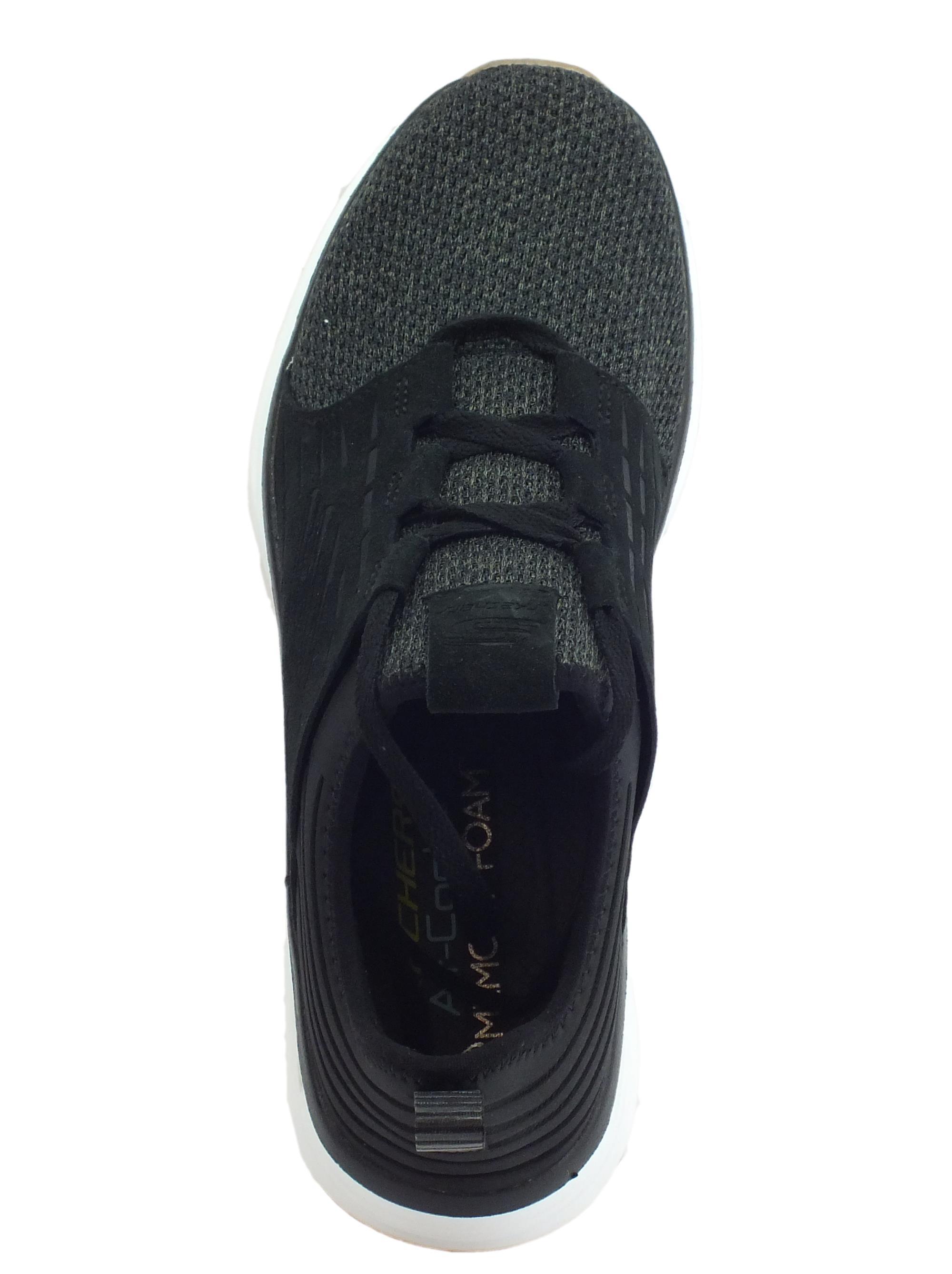 Scarpe Skechers SILSHER uomo tessuto camoscio nero - Vitiello Calzature d1b6c96c978