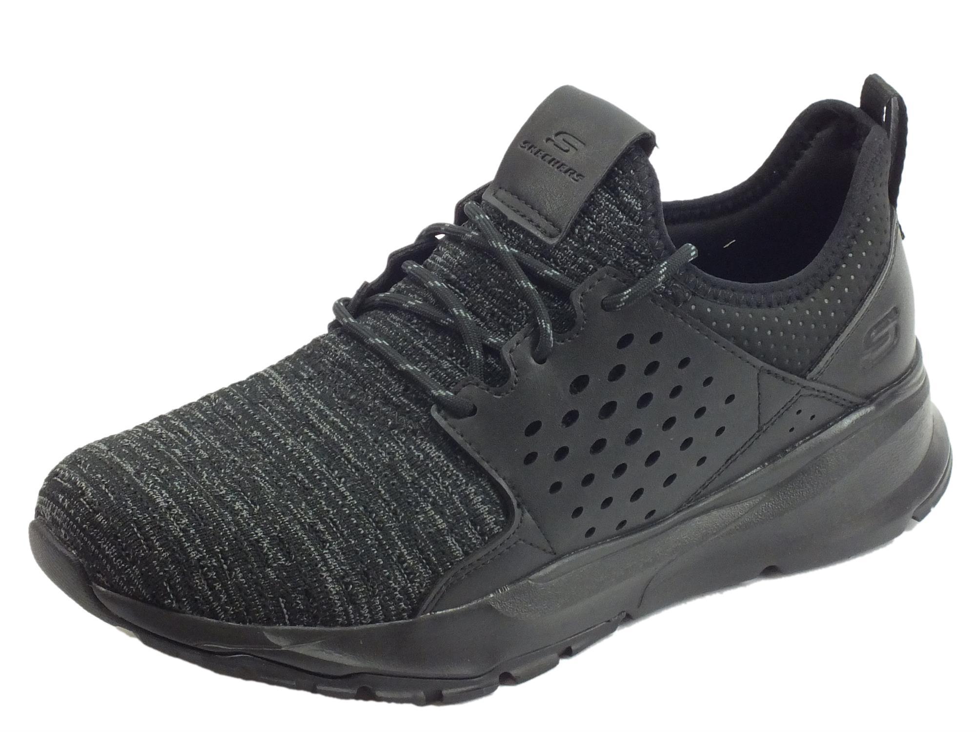 design di qualità e84f7 96c3a Scarpe Skechers Streetwear VELTON per uomo in tessuto nero