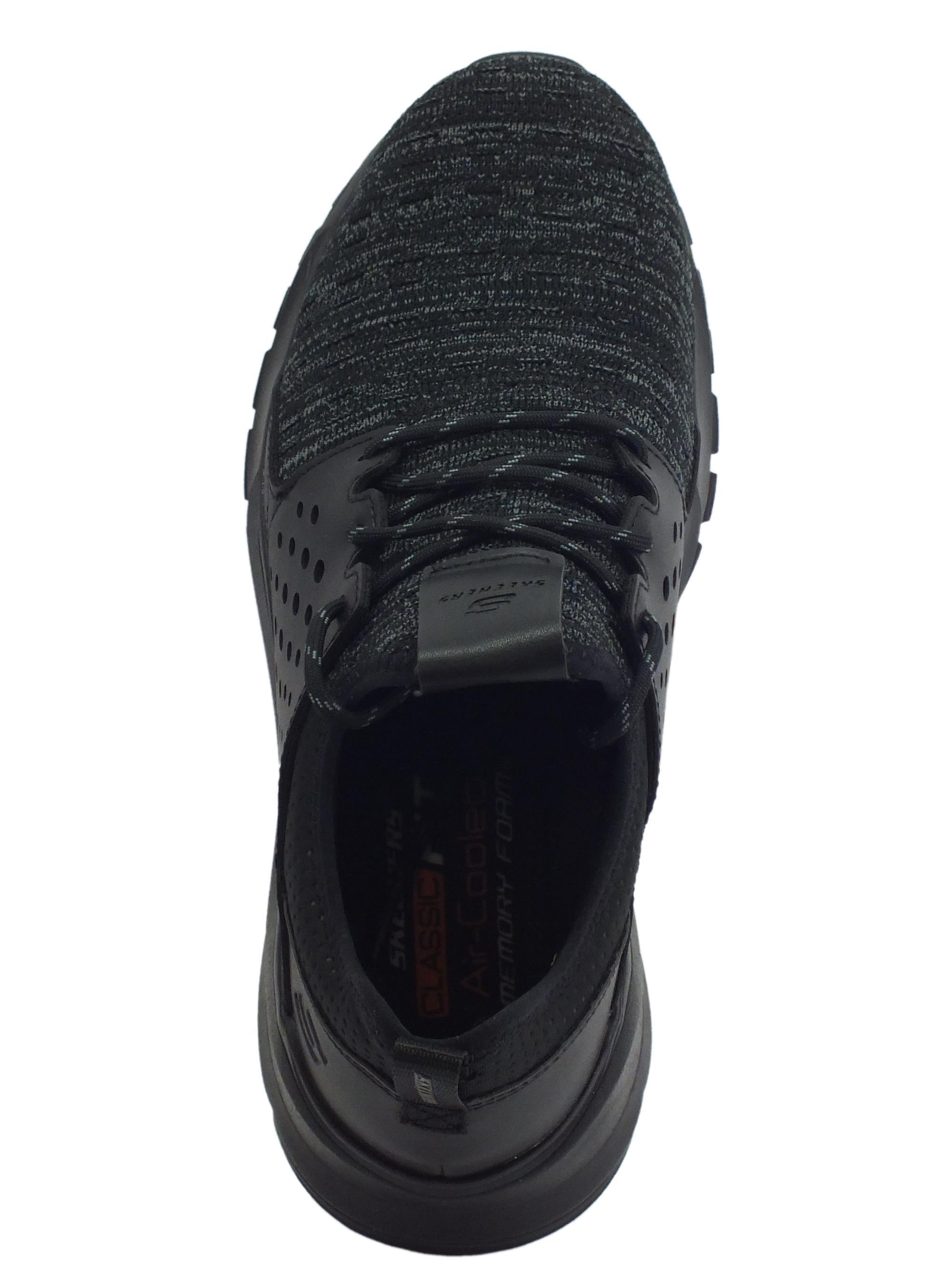 Scarpe Skechers Streetwear VELTON uomo tessuto nero - Vitiello Calzature 1507926b821