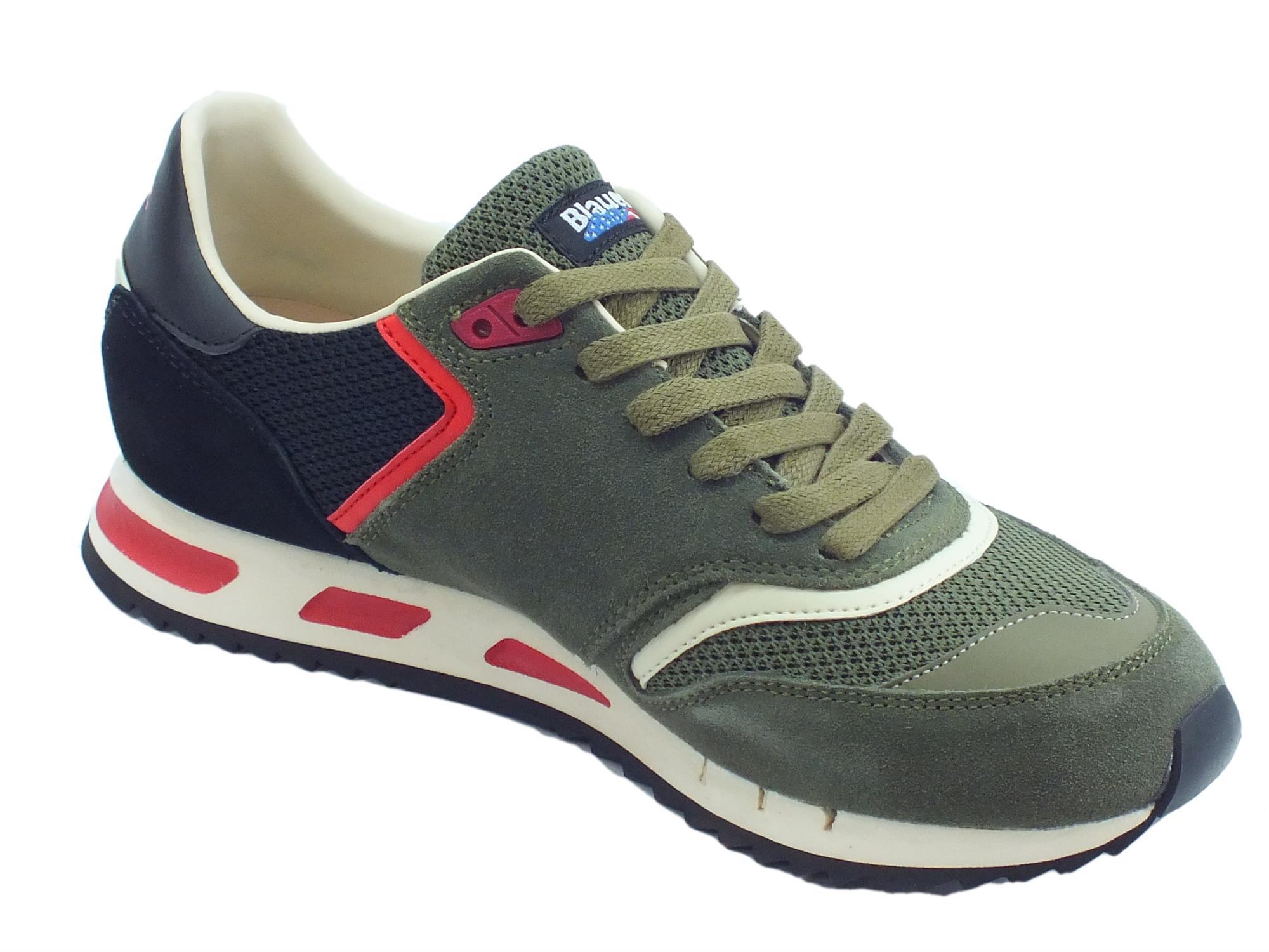 Blauer USA Memphis 06 scarpe sportive uomo military green - Vitiello ... 42e6c6ceff1