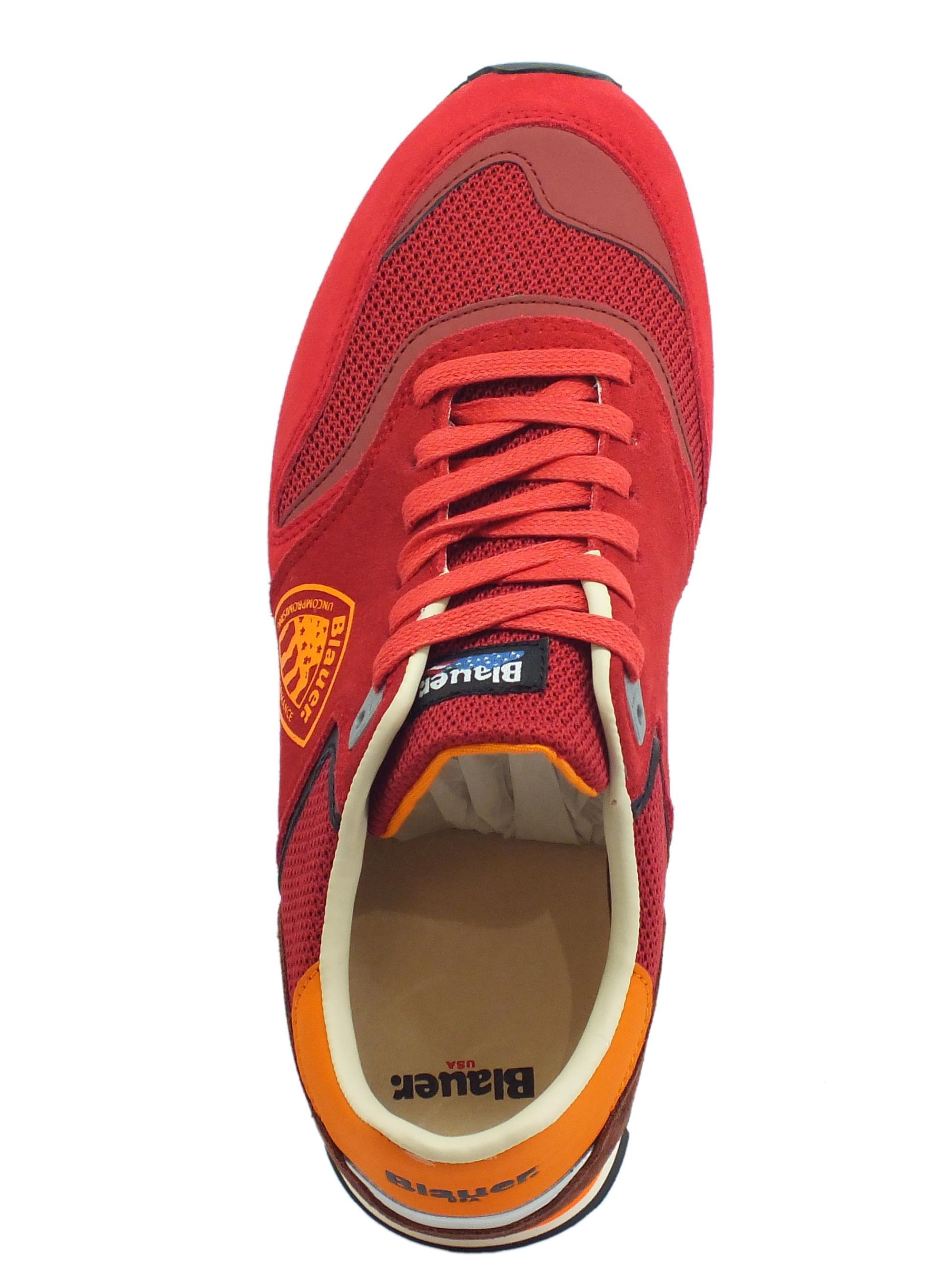 Blauer USA Memphis 06 scarpe sportive uomo rosso - Vitiello Calzature 3bd2f3f7539