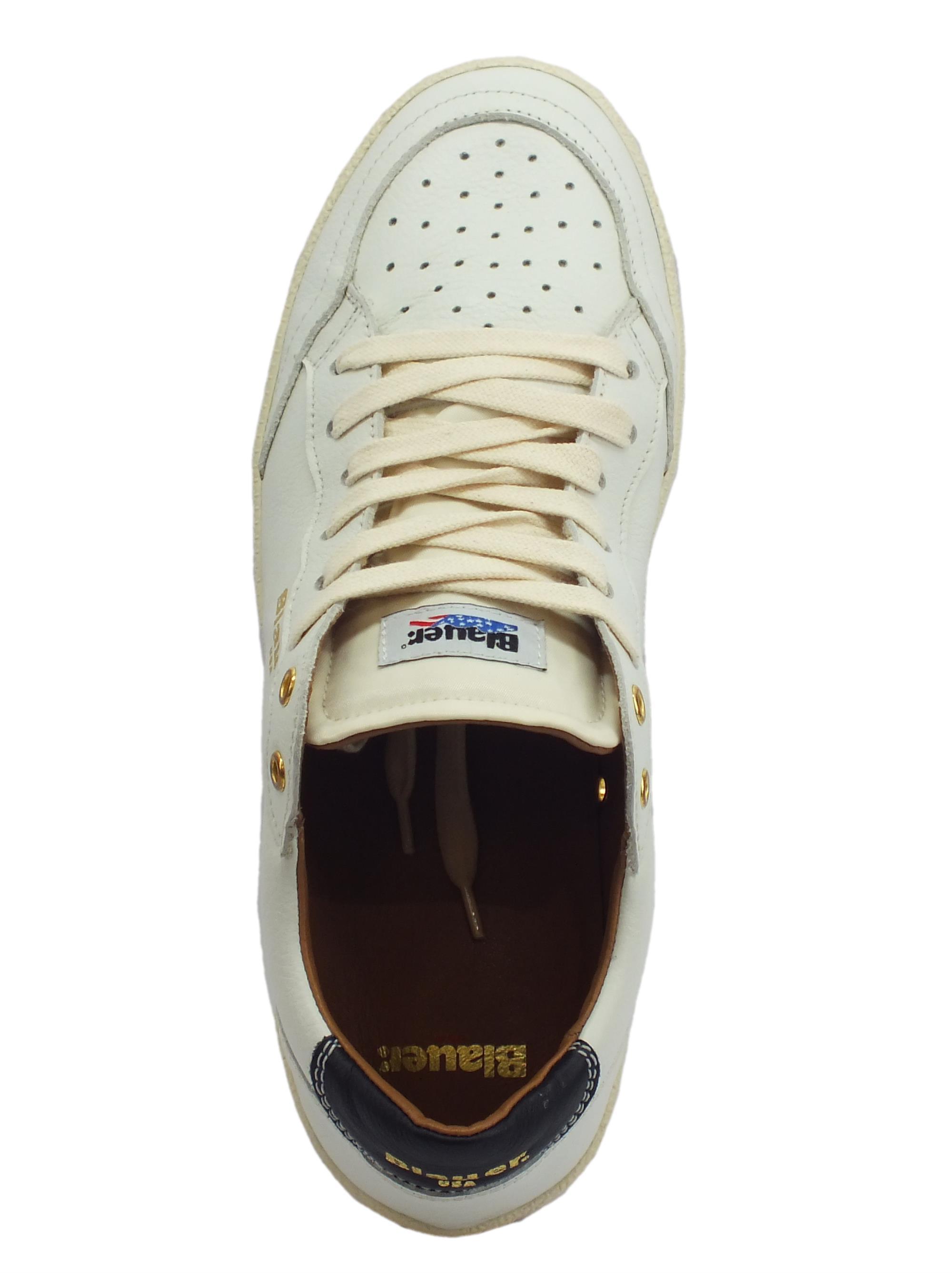 Scarpe Blauer Murray uomo pelle bianca - Vitiello Calzature 7955424c4af