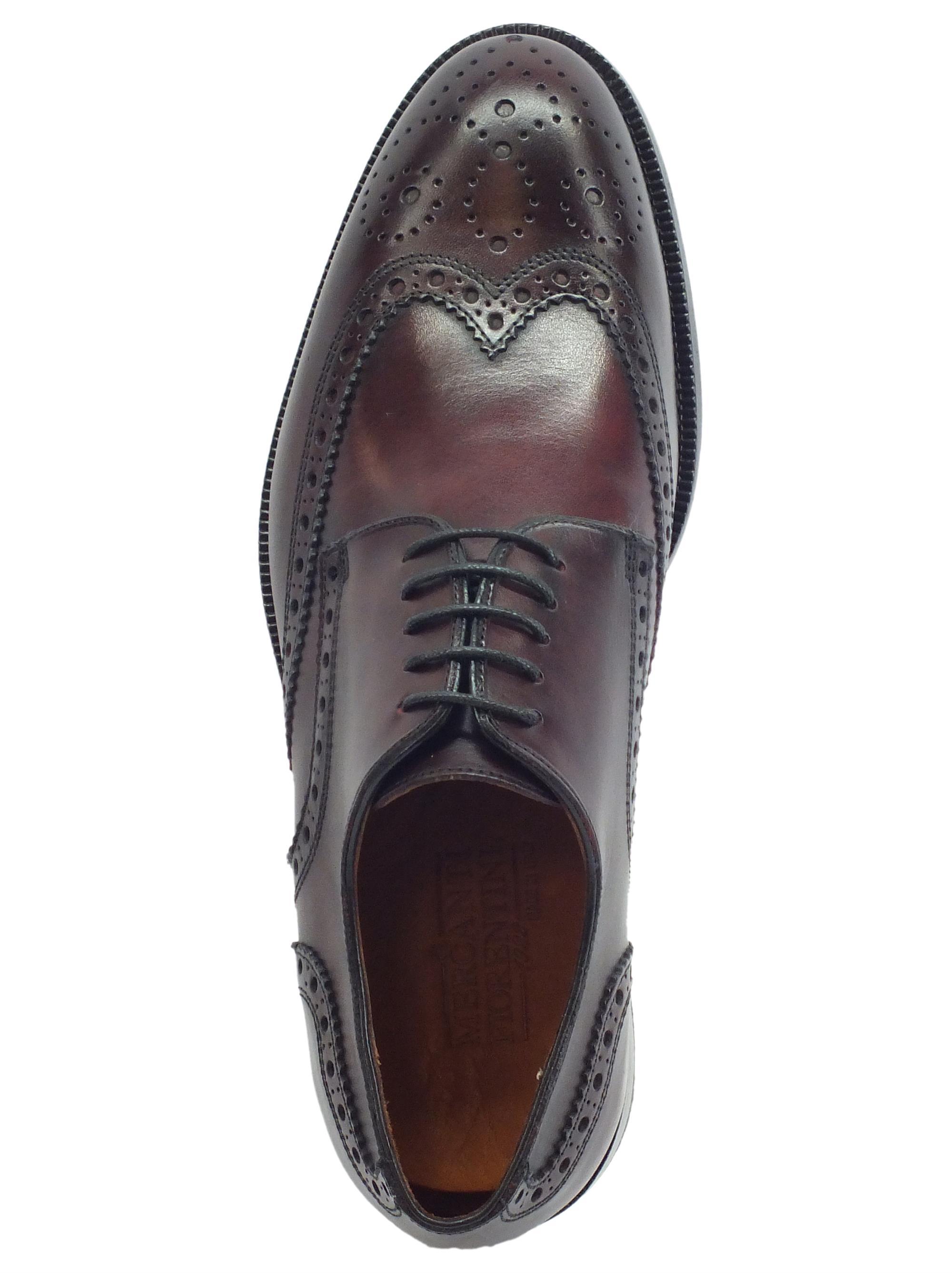 b28fb605c8f71 ... Mercanti Fiorentini Pegaso CA-55 Bordò scarpe classiche in pelle  lavorazione duilio