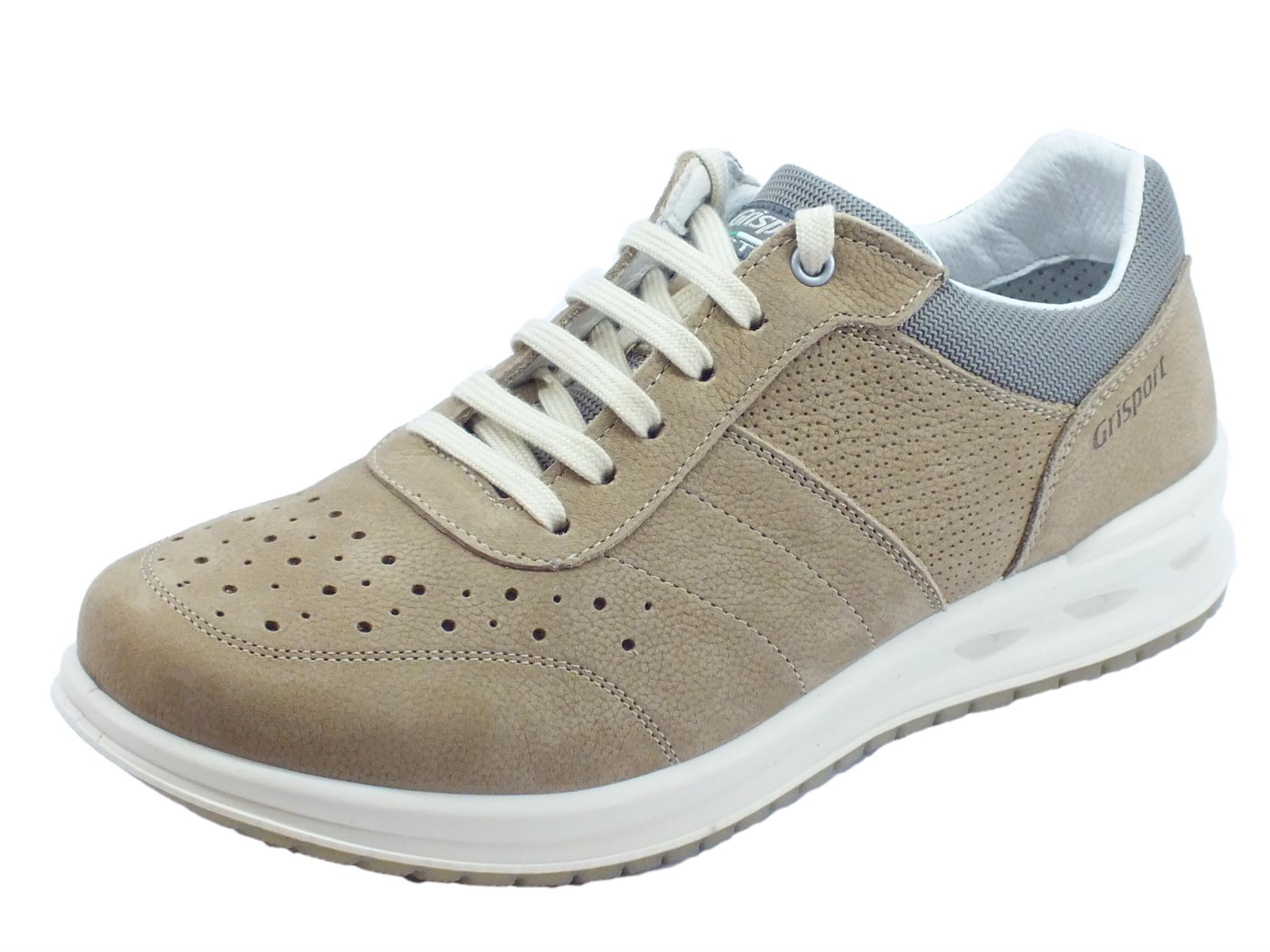 info for 29634 08715 Grisport 43055C6 Sabbia Cangù Stampato scarpe uomo in nabuk taupe  antistatica