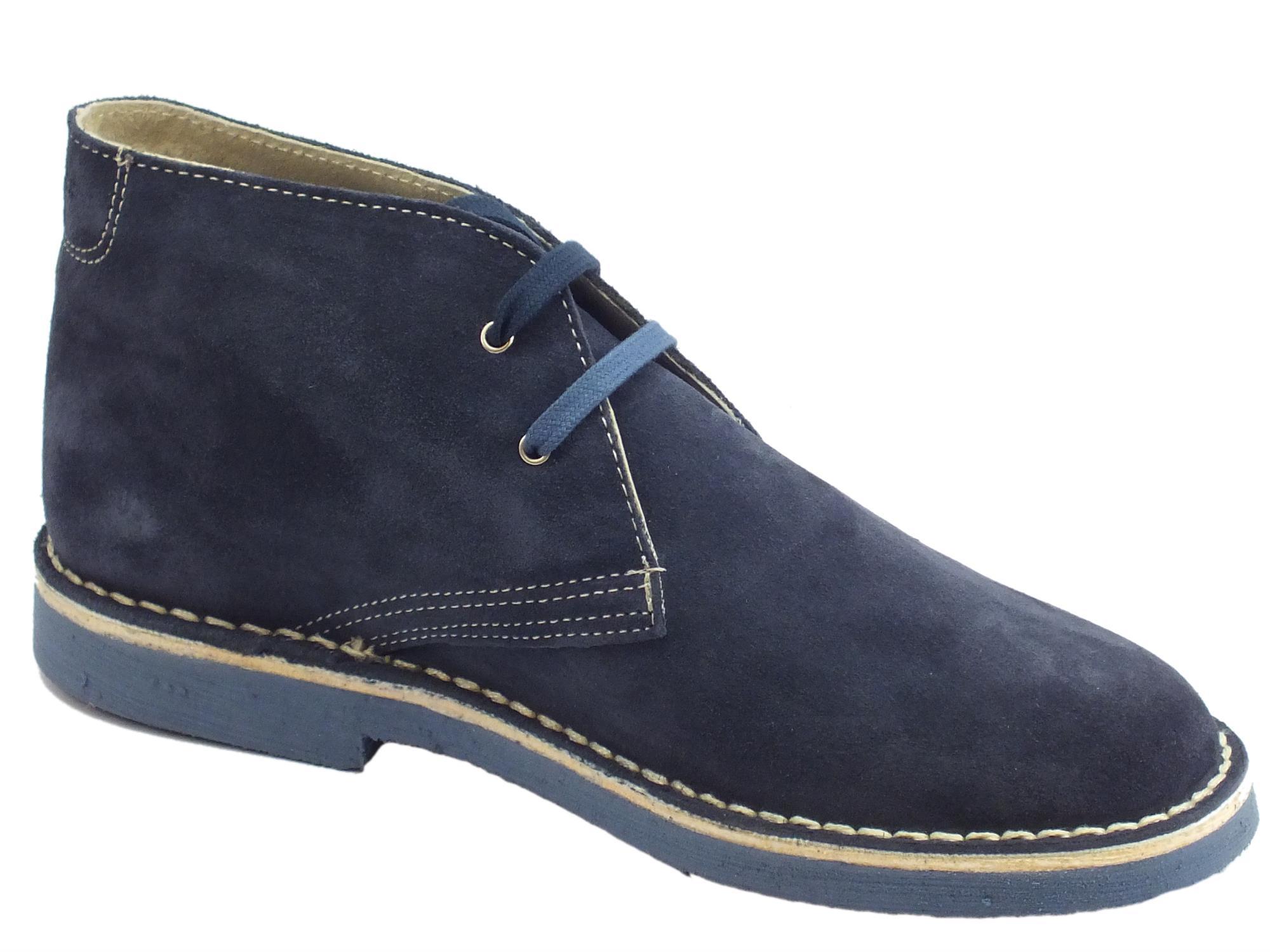 ... Lumberjack Gable scarpe polacchine uomo in camoscio jeans ed avio ... 2343d5ccac3