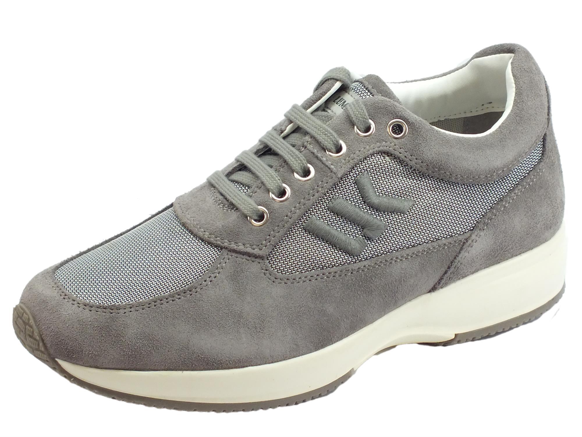 comprare on line 86a68 f4e56 Lumberjack Raul SM01309-009 CD002 Lt Grey scarpe per uomo in nabuk e  tessuto grigio chiaro