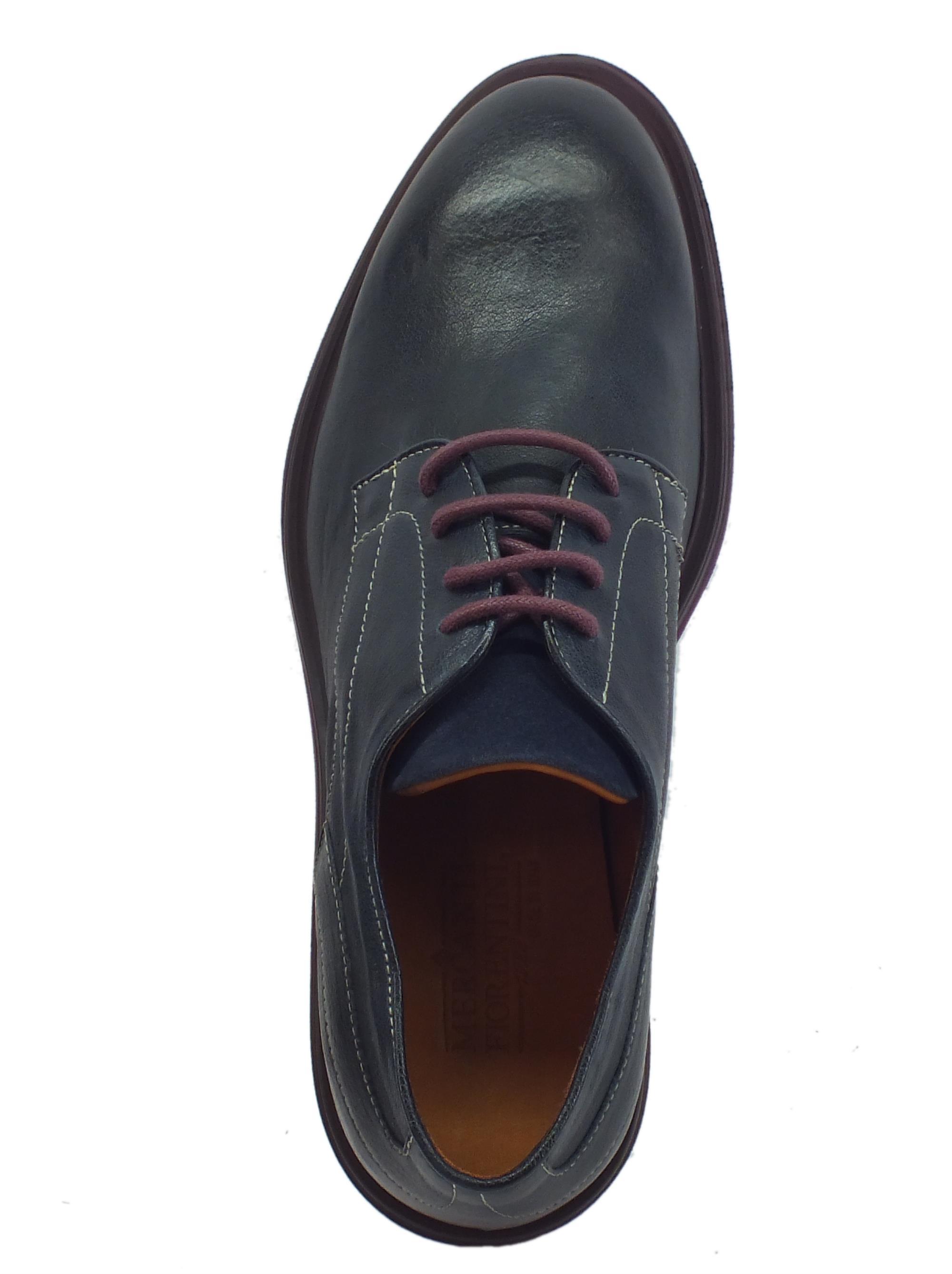 1edb8a2bd2891 ... Mercanti Fiorentini Rex Navy Kaleido Blu scarpe eleganti per uomo in  pelle blu