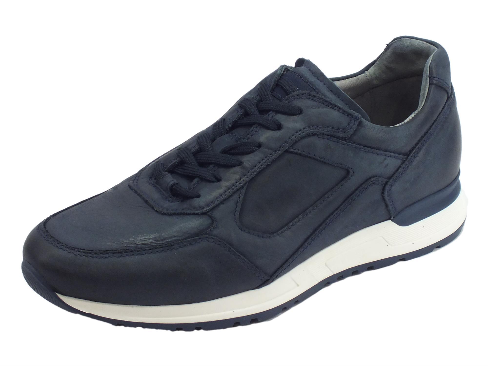 outlet store d3c88 64024 Nerogiardini scarpe per uomo in pelle morbidissima colore blu