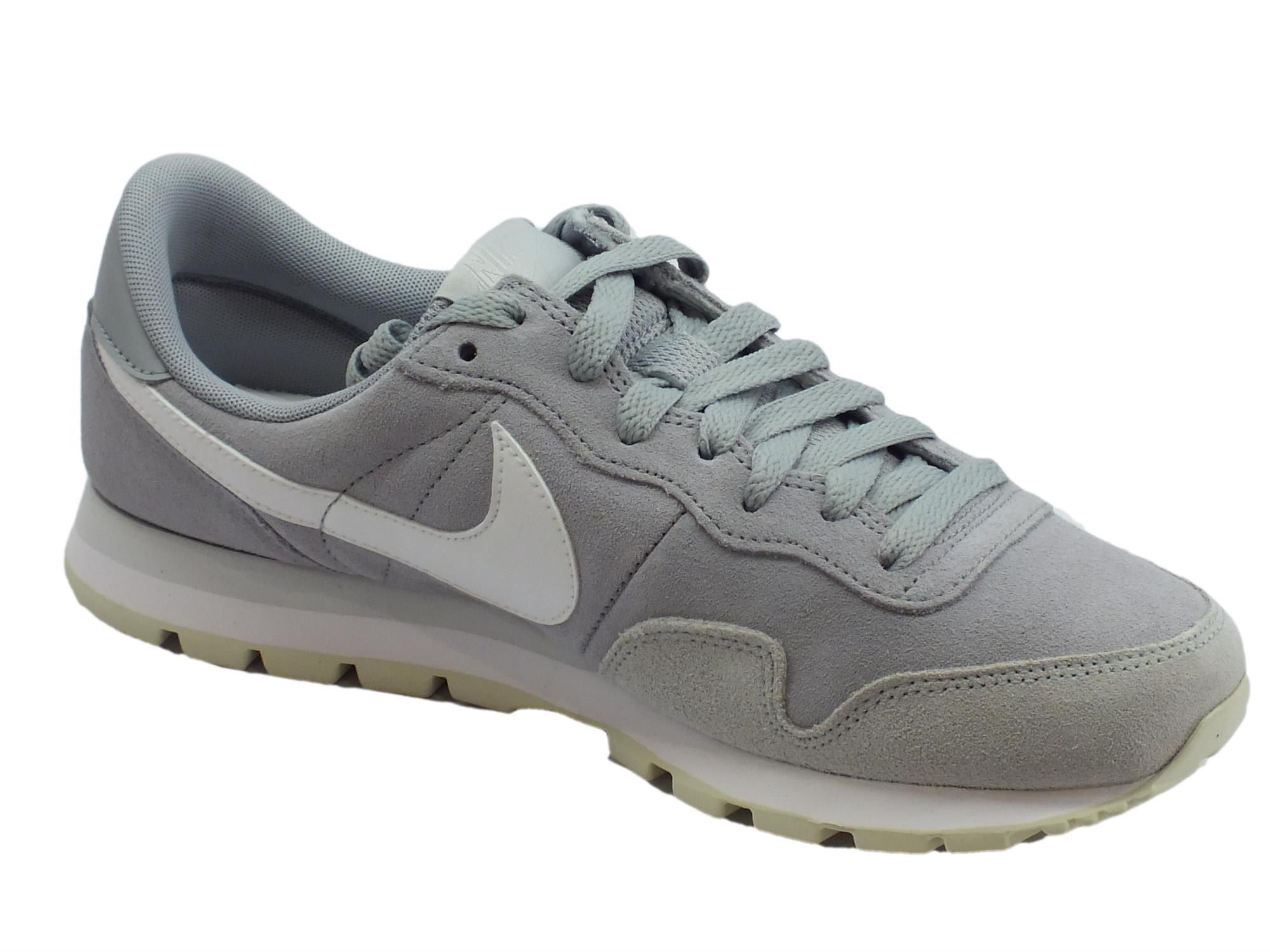 Scarpe sportive per uomo Nike air pegasus in camoscio grigio