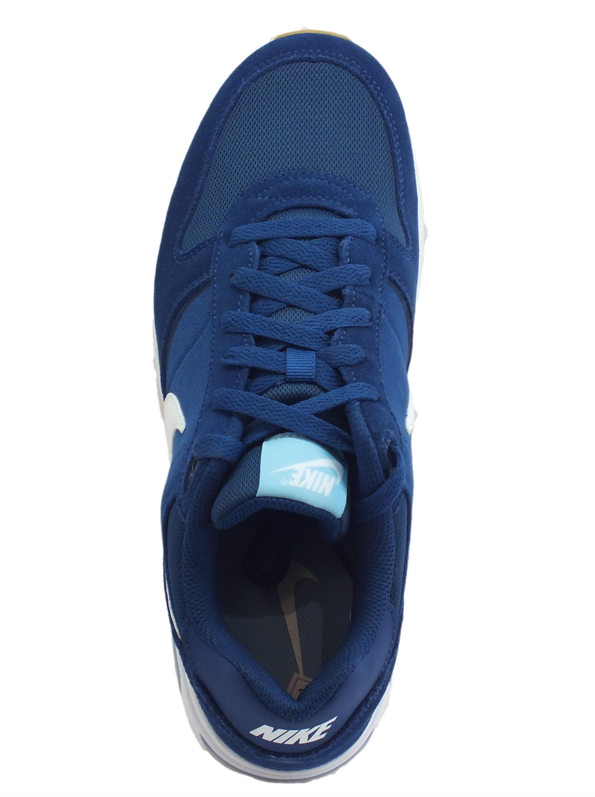 Scarpe sportive Nike NightGazer uomo camoscio tessuto blu - Vitiello ... d6dad207542