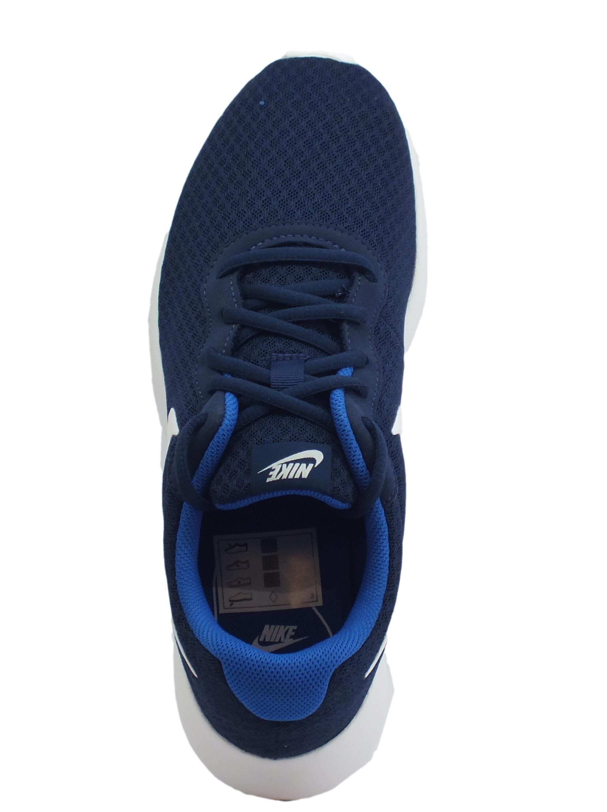 Scarpe sportive Nike Tanjun uomo tessuto blu scuro - Vitiello Calzature a5ee792296e