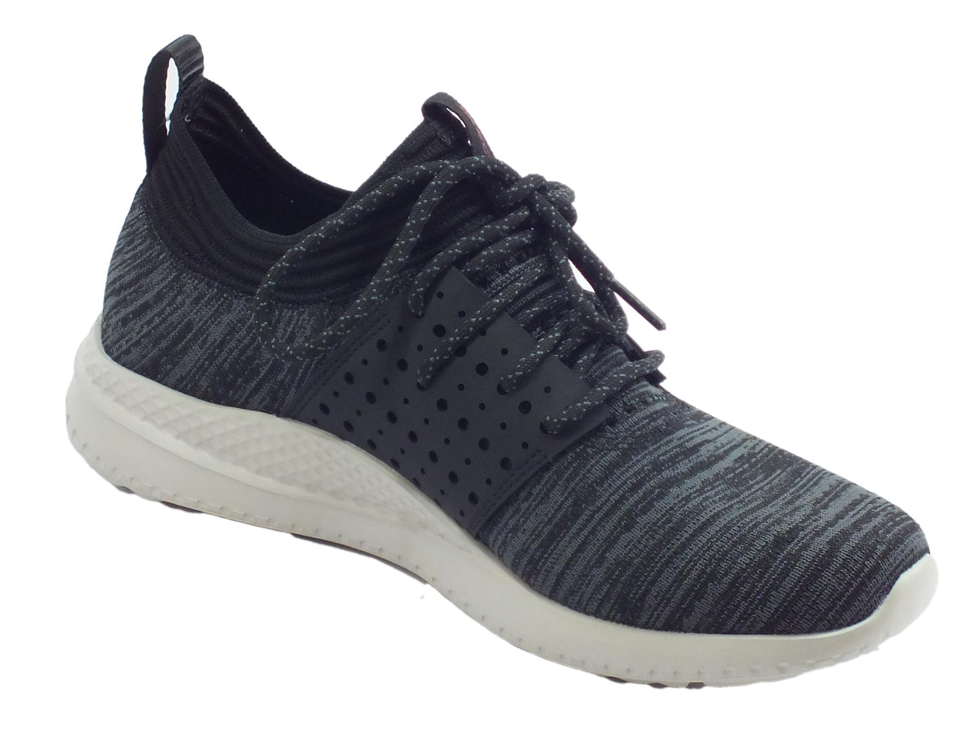 Skechers Matera Knocto scarpe sportive uomo tessuto nero - Vitiello ... 06c40ebac6f