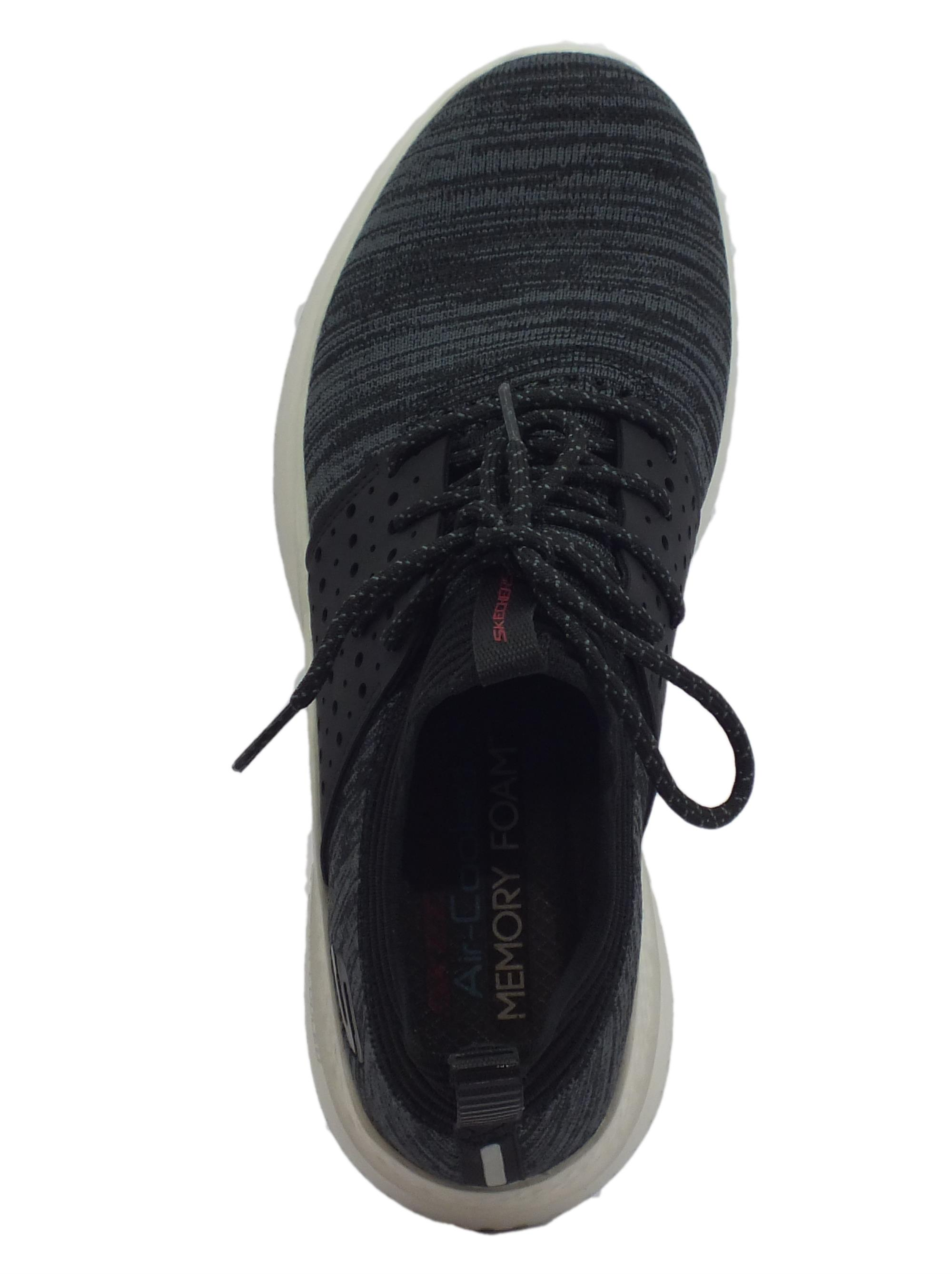 Skechers Matera Knocto scarpe sportive uomo tessuto nero - Vitiello ... 37ac33fabac