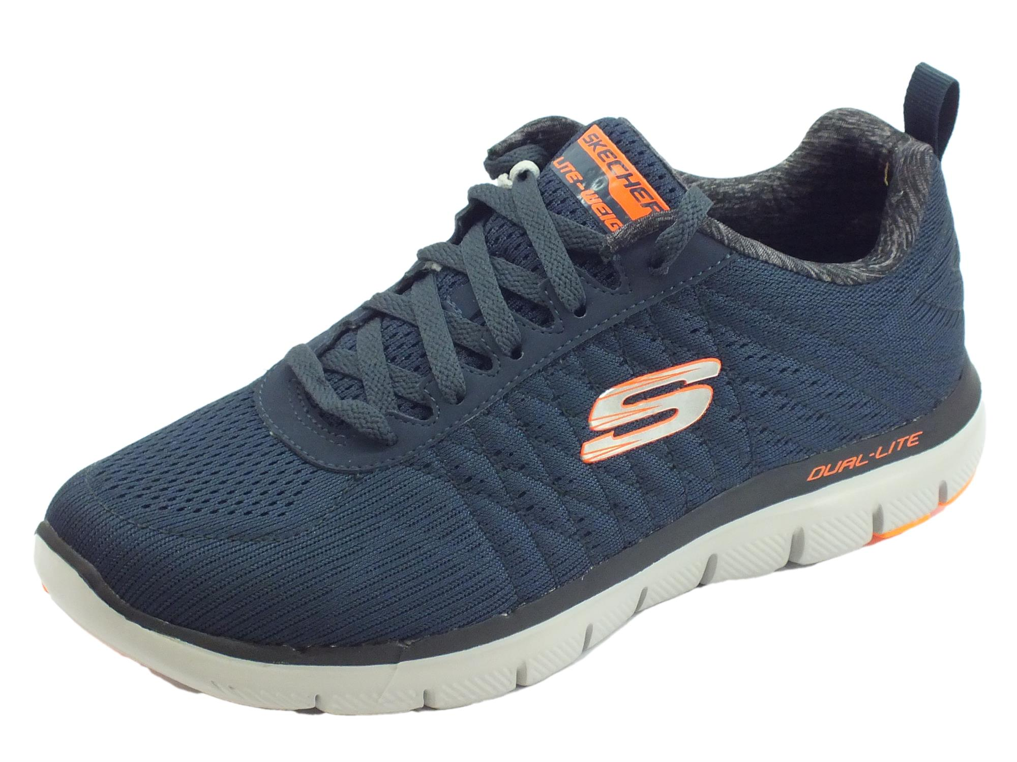 Skechers Flex Advantage 2.0 the happs scarpe sportive uomo tessuto blu