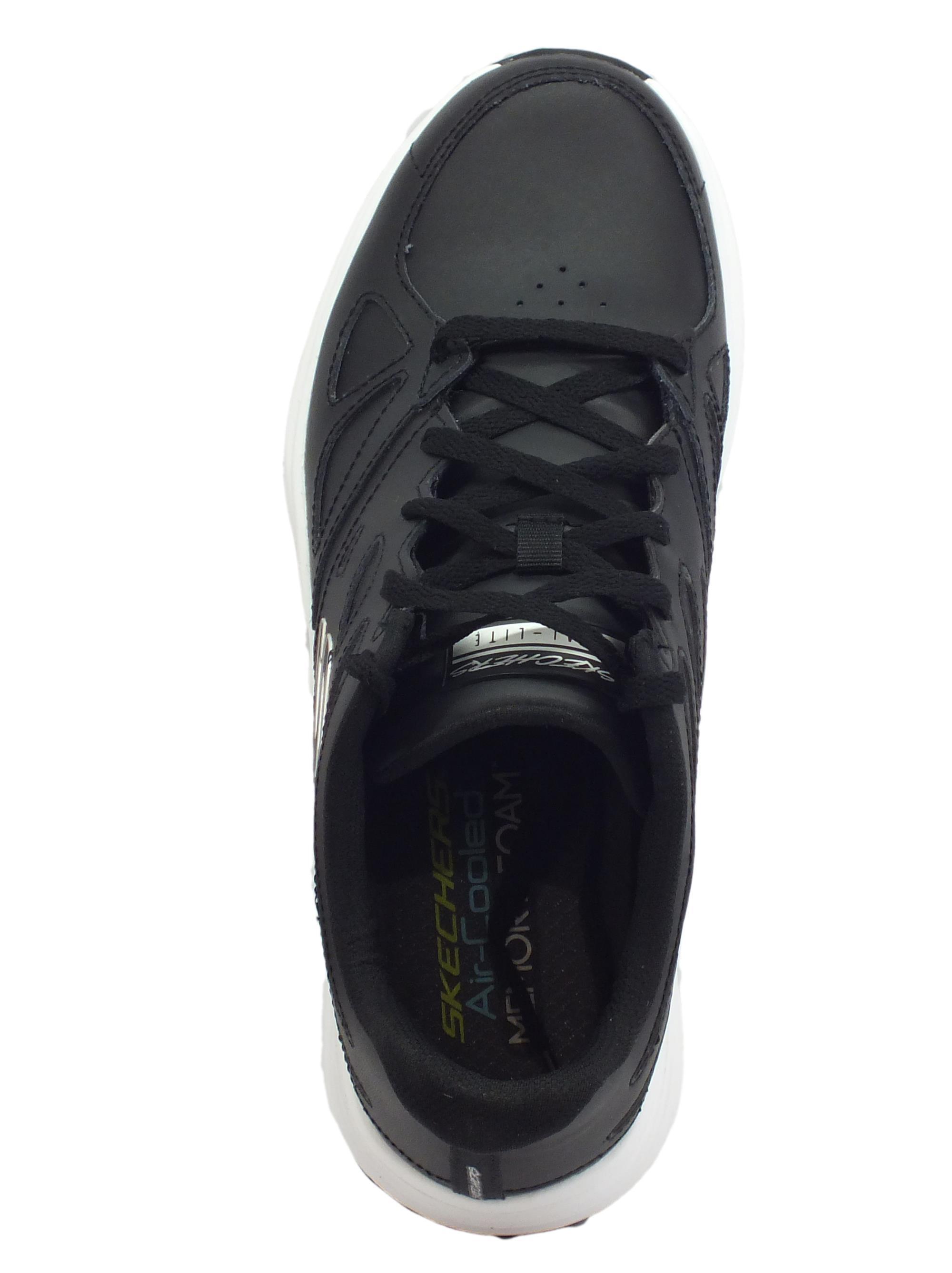 ... Skechers Skyline Woodmist Black scarpe sportive uomo in pelle nera 34784705fbc