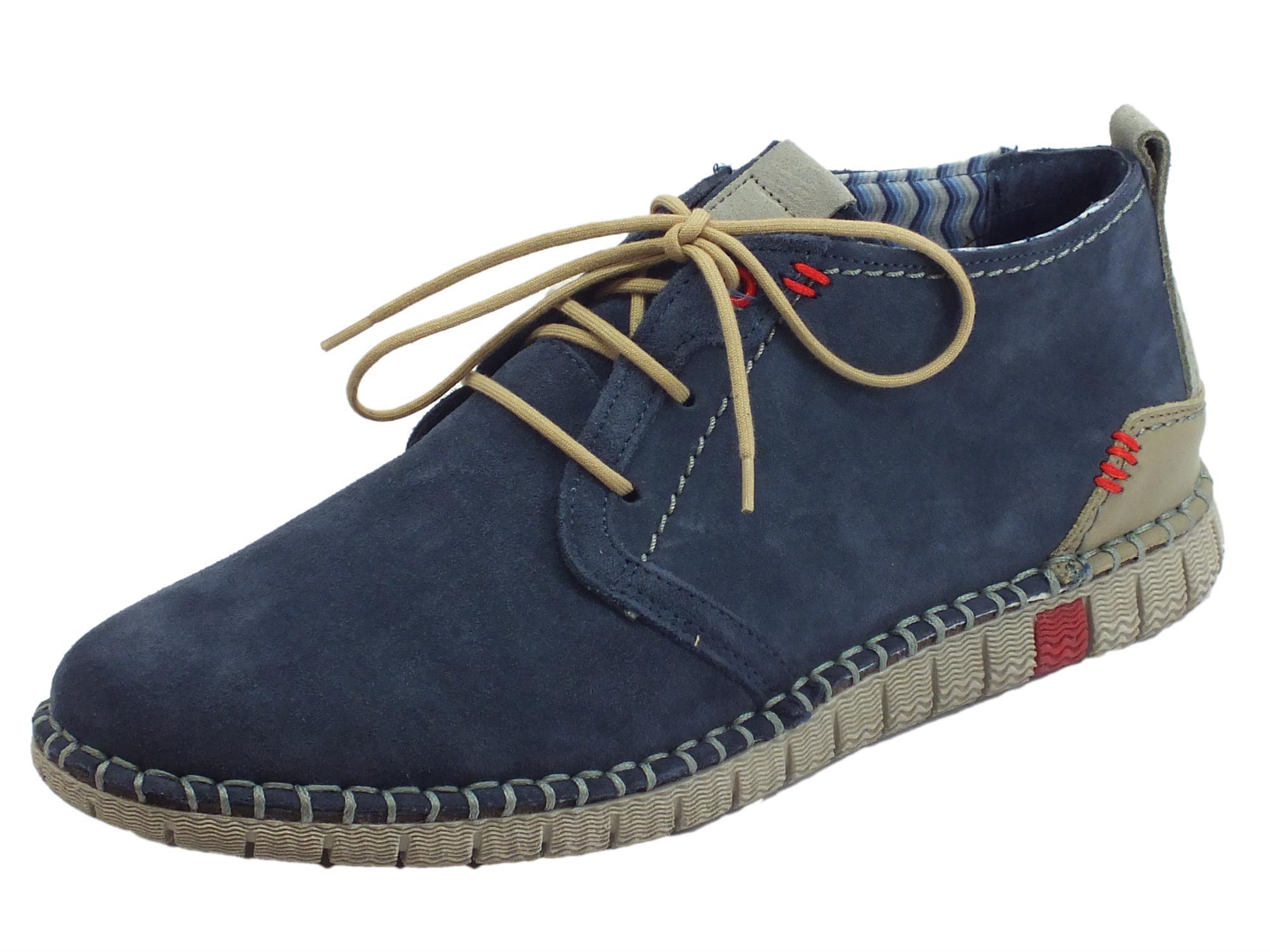 f4825574c41c Zen Vescolor Flag scarpe uomo camoscio blu - Vitiello Calzature