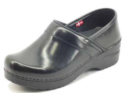 Articolo Sanita 457806W Original Off Leather Black Scarpe per Donna in pelle