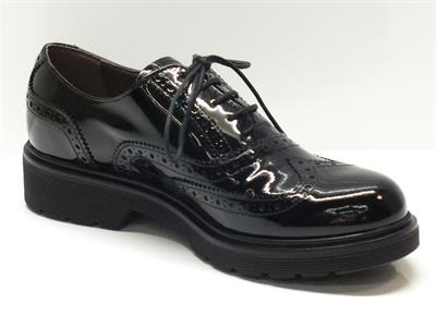 Scarpe da donna nero giardini in vernice nera merlettata vitiello calzature vendita online - Scarpe eleganti da cerimonia nero giardini ...