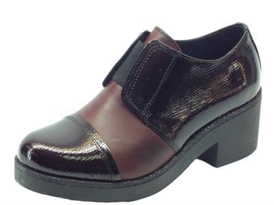 Articolo Scarpe Mercante di Fiori in pelle e vernice bordeaux con calzata veloce