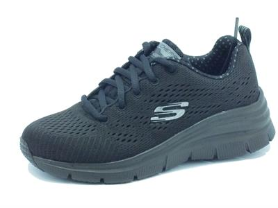 Scarpe Skechers Fashion Fit per donna in tessuto nero