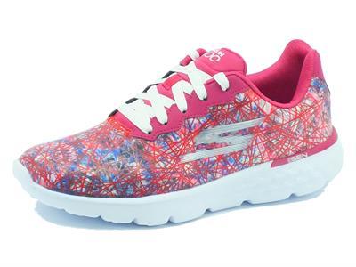 Articolo Scarpe Skechers GoRun 400 per donna in tessuto multicolore rosa