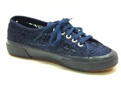 Scarpe Superga per donna in tessuto macramè blu | eBay