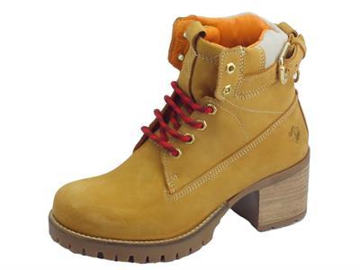 Articolo Lumberjack Demi SW68501-001 D01 CG001 Yellow Scarpondini donna in nabuk tacco alto