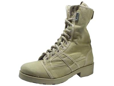 OXS Frank 1040 Mid Boot W Fabric Taupe Scarponcini in tela per Donna