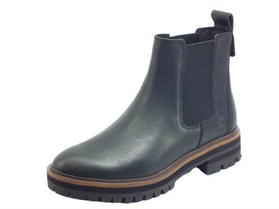 Articolo Timberland 0A1RBJ London Square Chelsea Black Full Grain Scarponcini donna modello Beatles in pelle