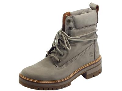 Articolo Timberland 0A1RQX Courmayeur Valley 6 in Boot Taupe Nubuck Scarponcini donna modello Beatles nabuk