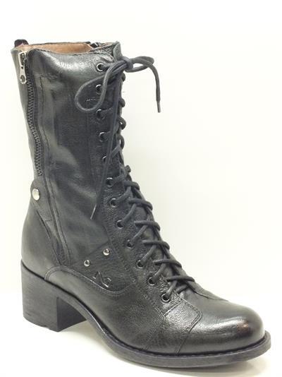 Anfibi nero giardini per donna con lampo e lacci vitiello calzature vendita online scarpe e - Anfibi uomo nero giardini ...