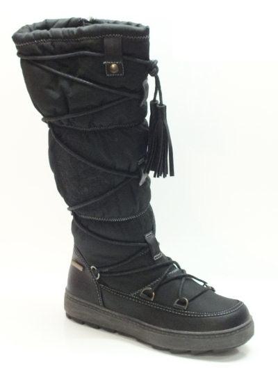 Articolo Stivali Sheen per donna in tessuto tecnico nero con zeppa