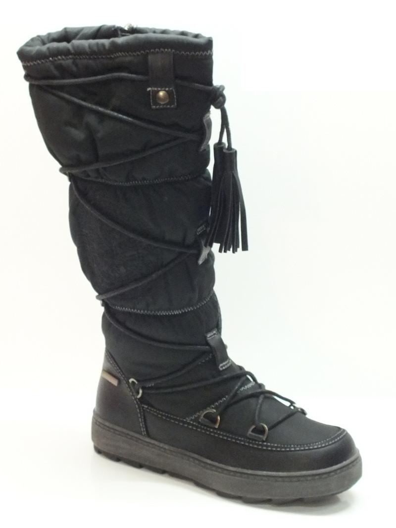 promo code c122d ddf8d Stivali Sheen per donna in tessuto tecnico nero con zeppa